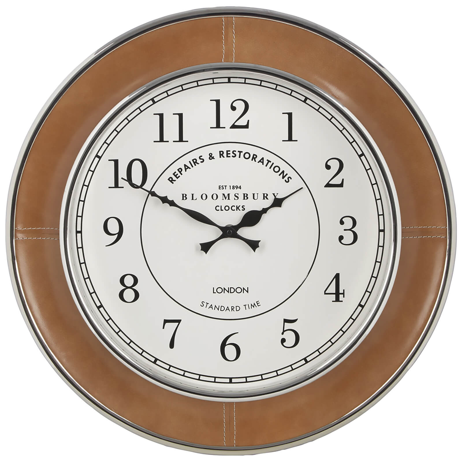 Fifty Five South Churchill Leather Wall Clock - Tan