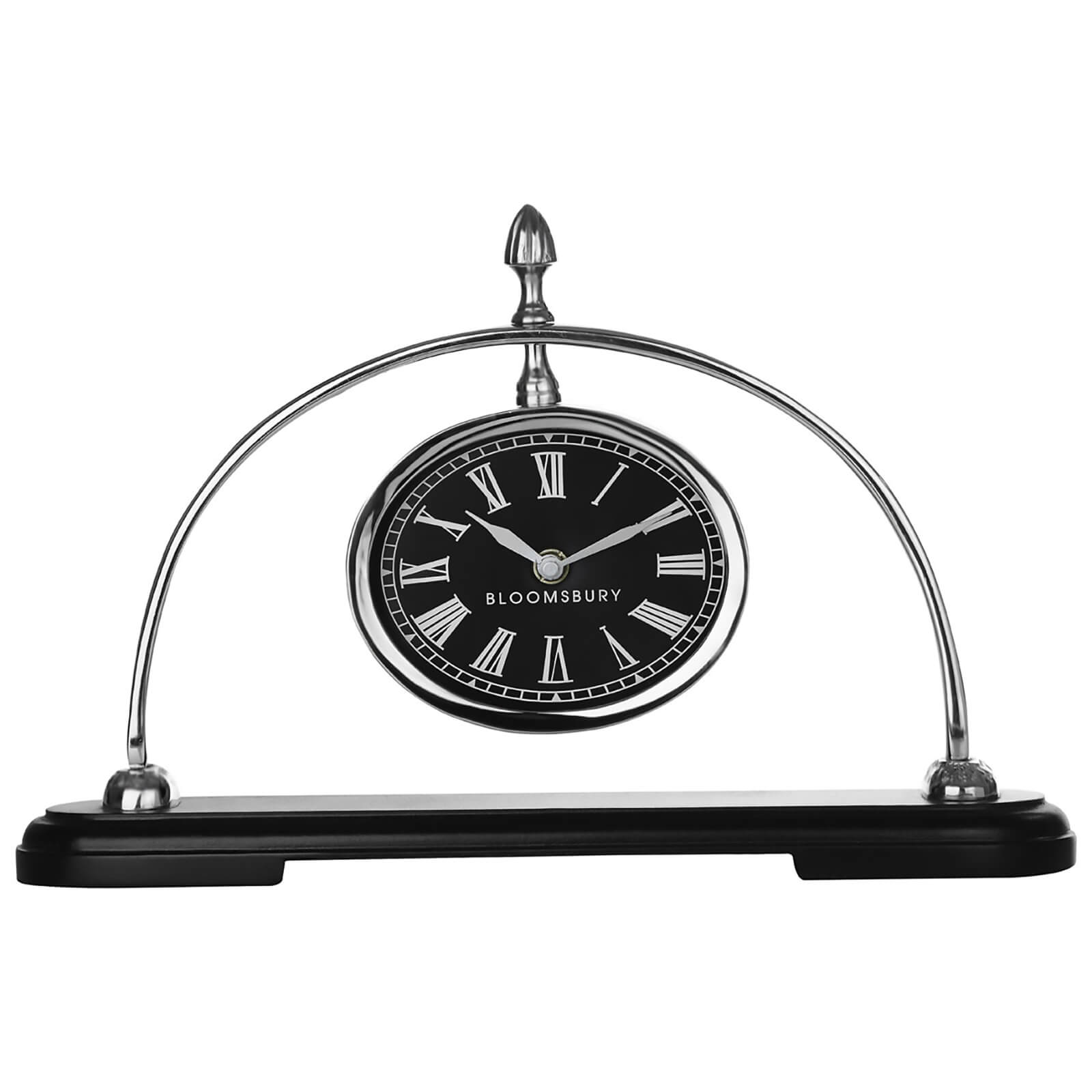 Fifty Five South Churchill Mantle Clock - Black