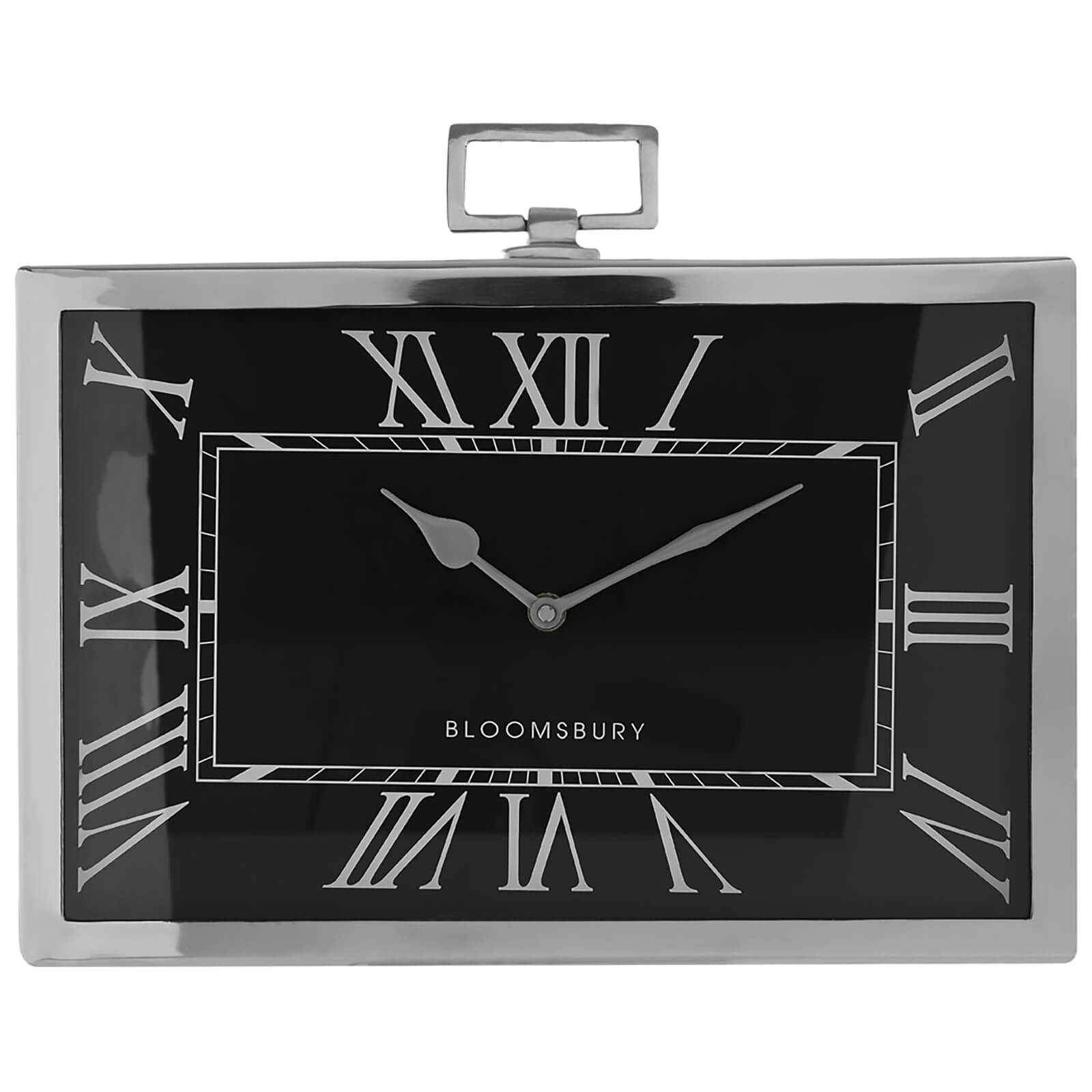 Fifty Five South Kensington Townhouse Rectangular Mantle Clock - Black
