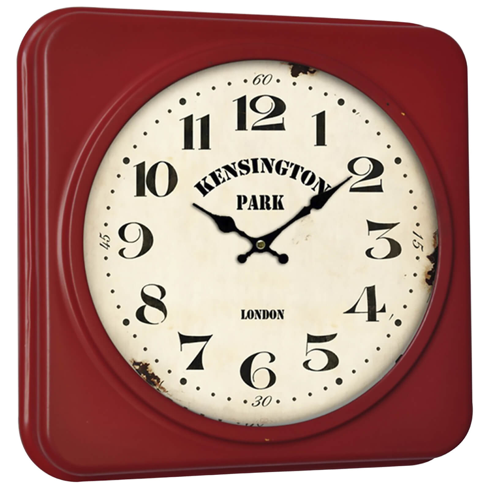 Fifty Five South Kensington Square Wall Clock - Red/ Cream