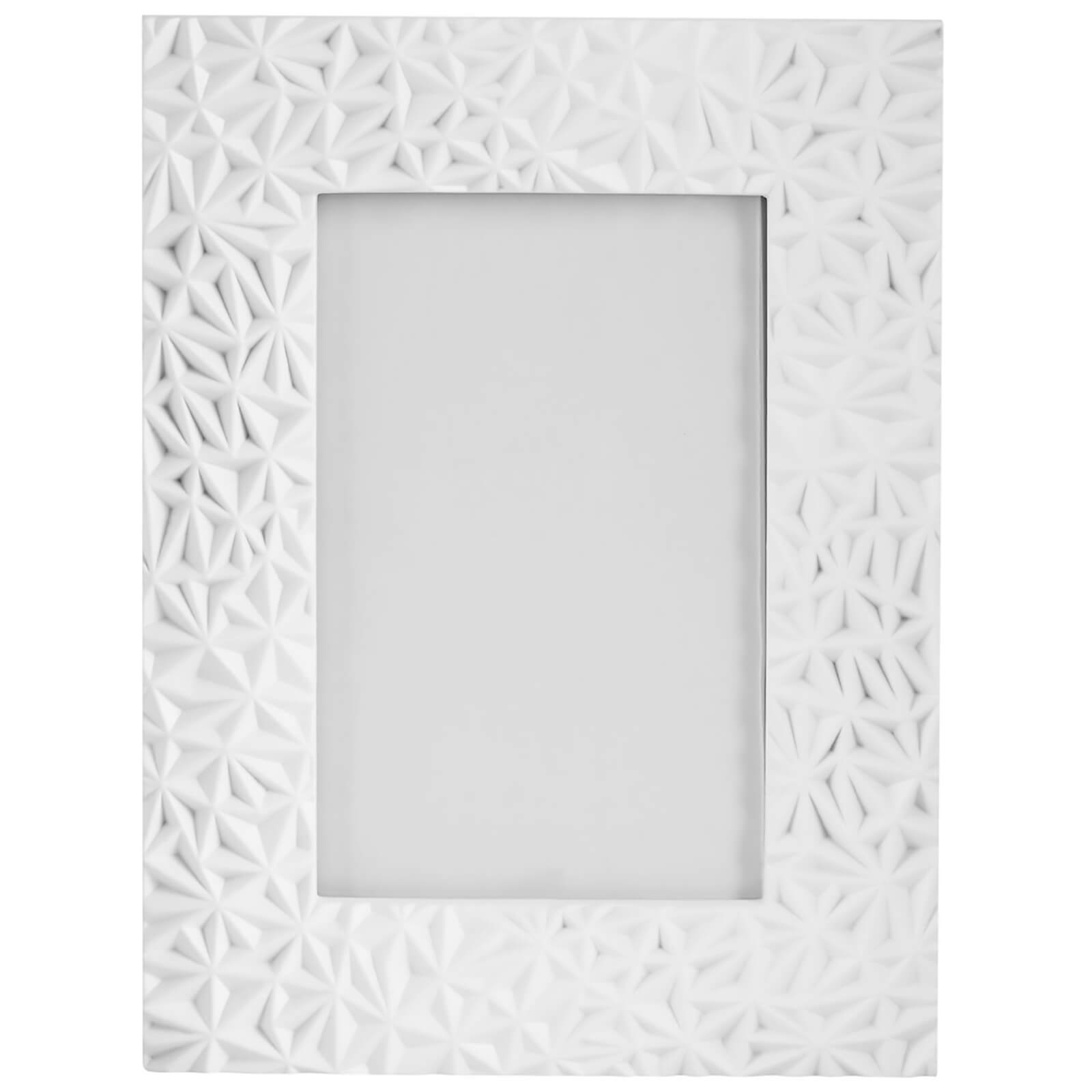 "Fifty Five South Geo Photo Frame - White 4"" x 6"""