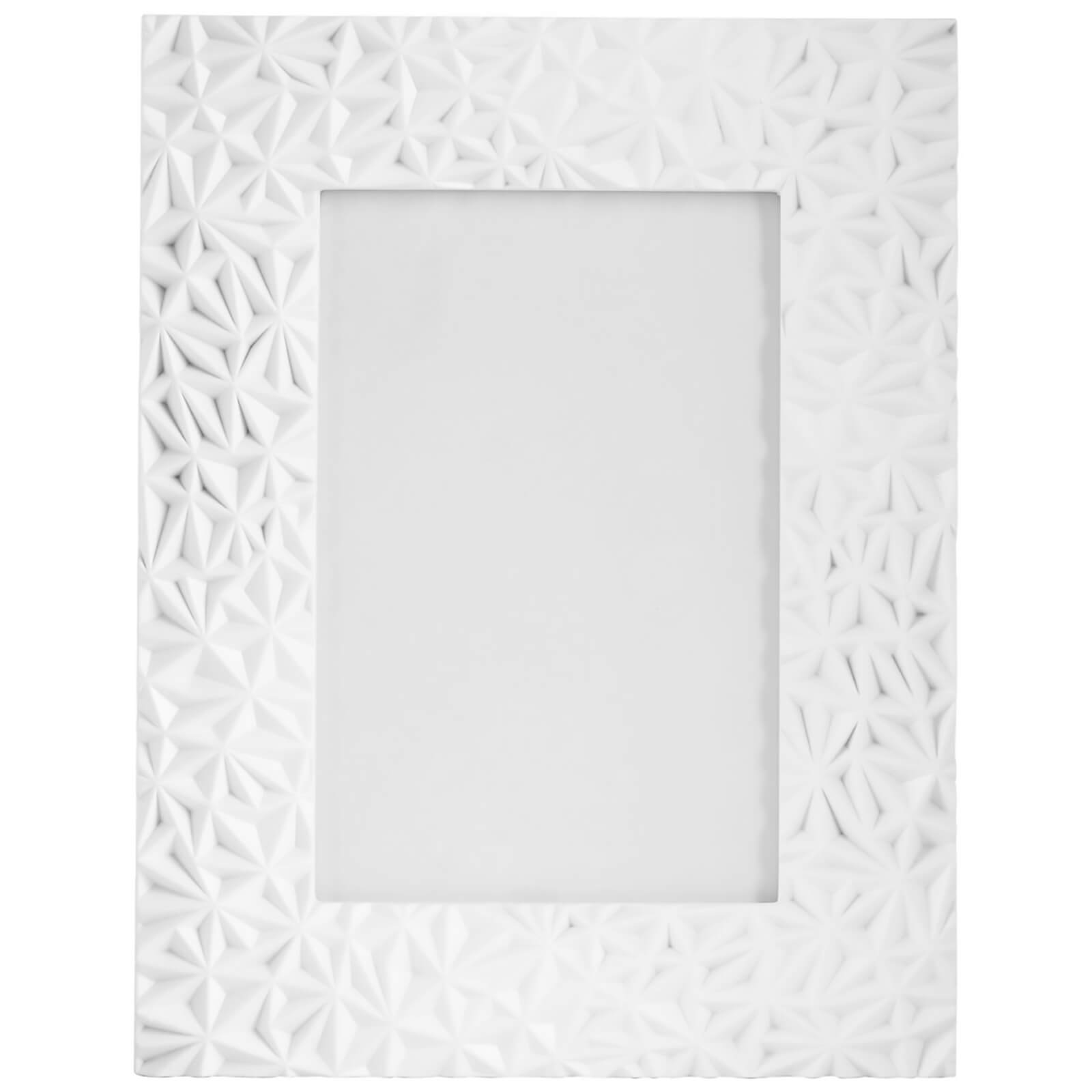 "Fifty Five South Geo Photo Frame - White 5"" x 7"""