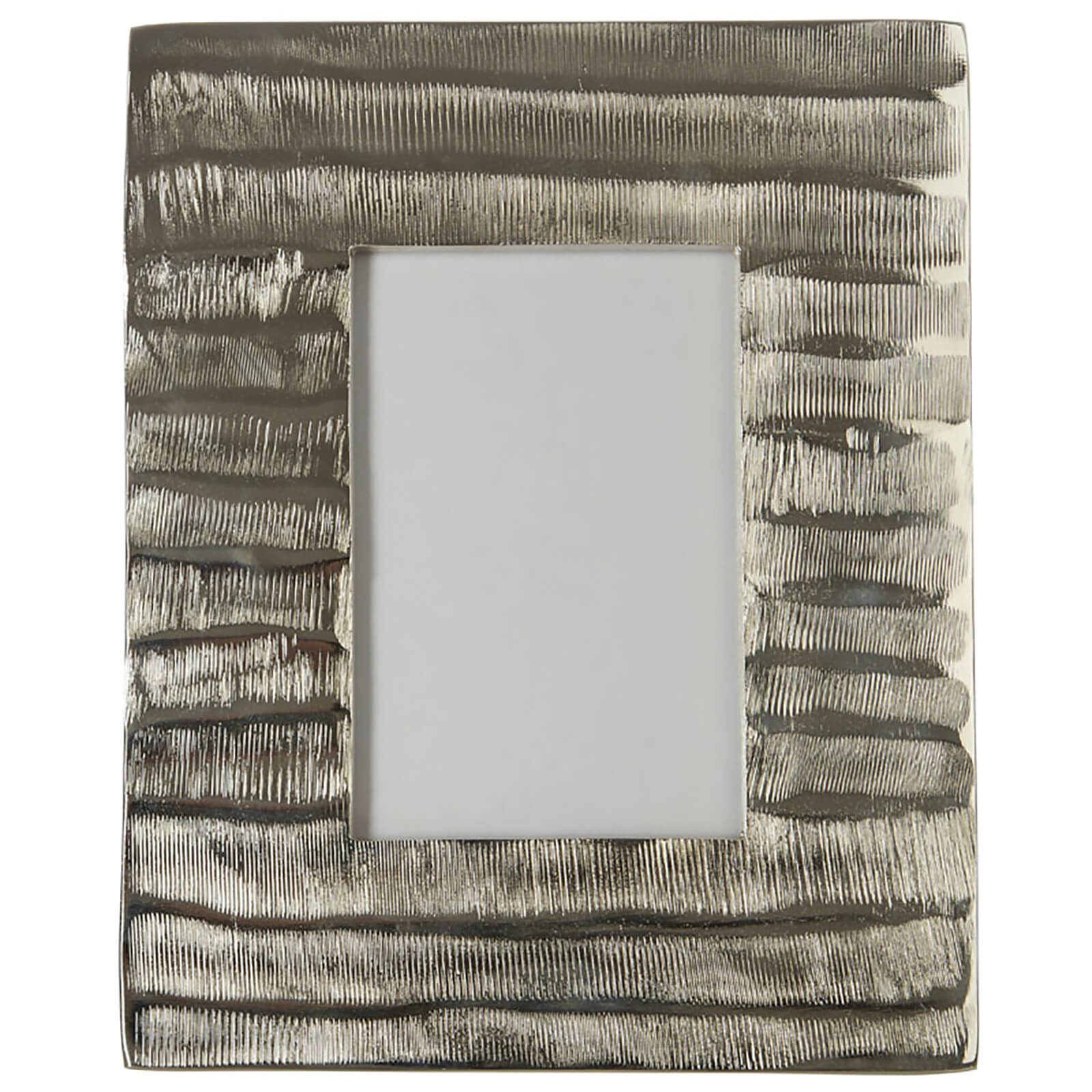 "Fifty Five South Kensington Townhouse Photo Frame - Grind Nickel Finish 4"" x 6"""