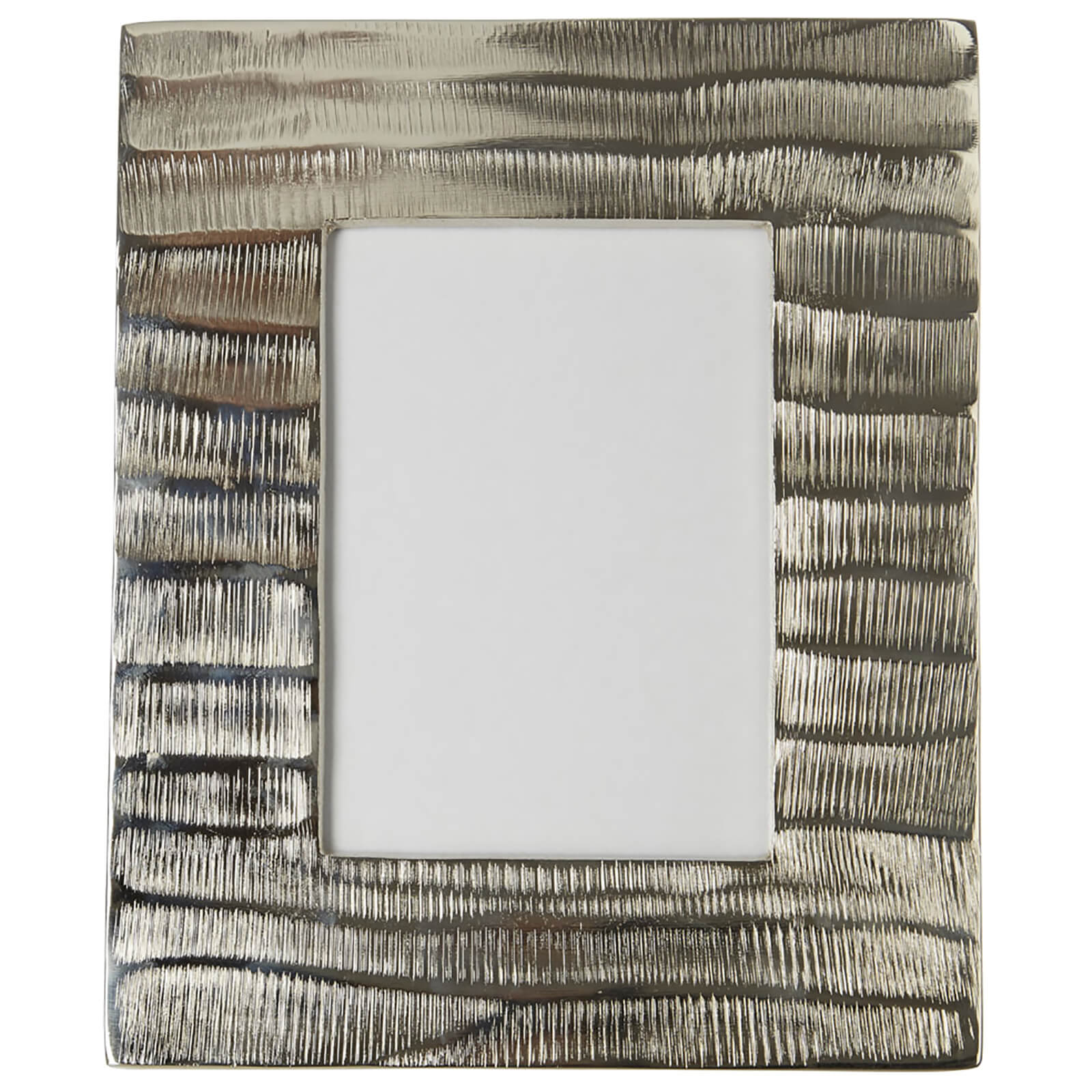 "Fifty Five South Kensington Townhouse Photo Frame - Grind Nickel Finish 5"" x 7"""