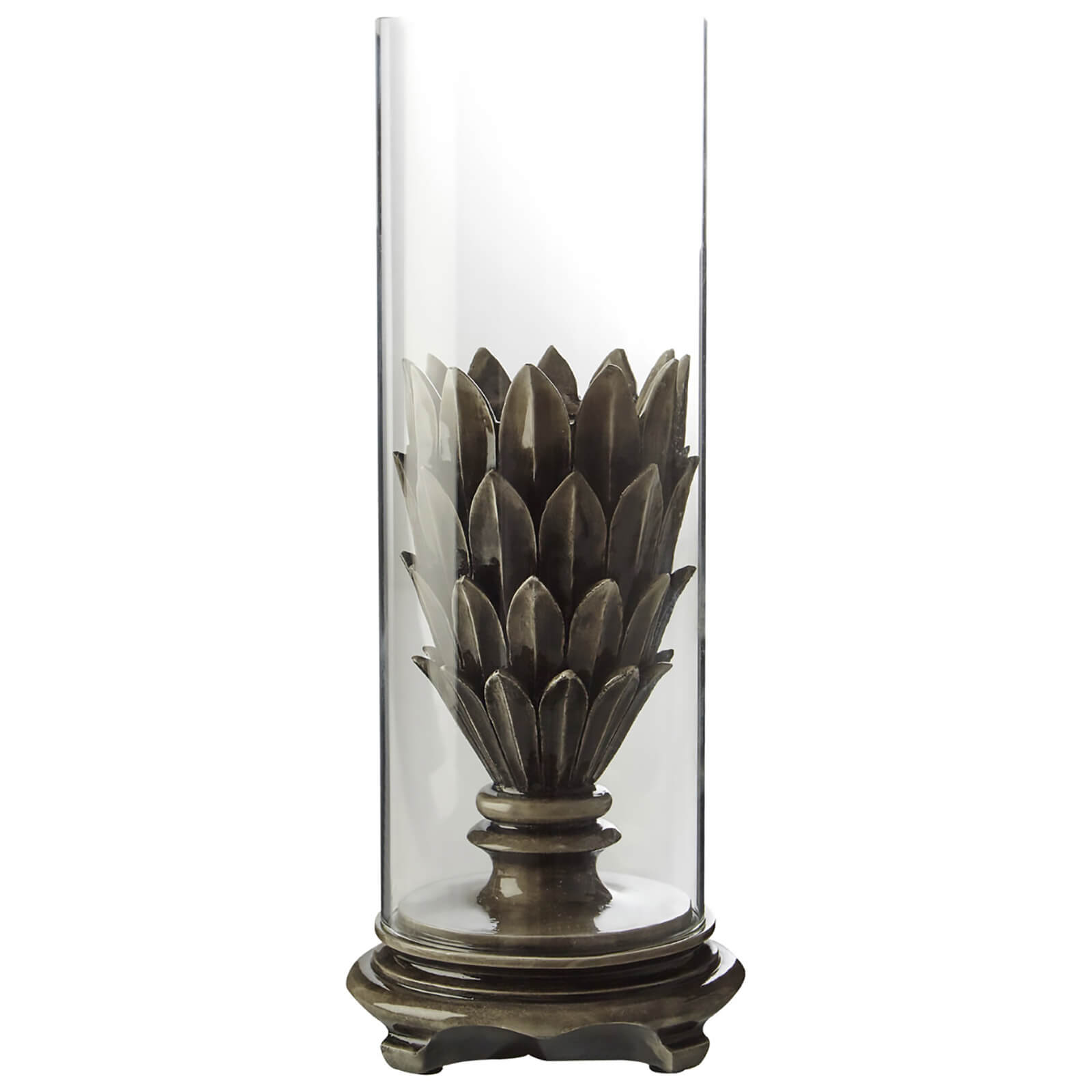 Fifty Five South Complements Candle Holder - Dark Grey