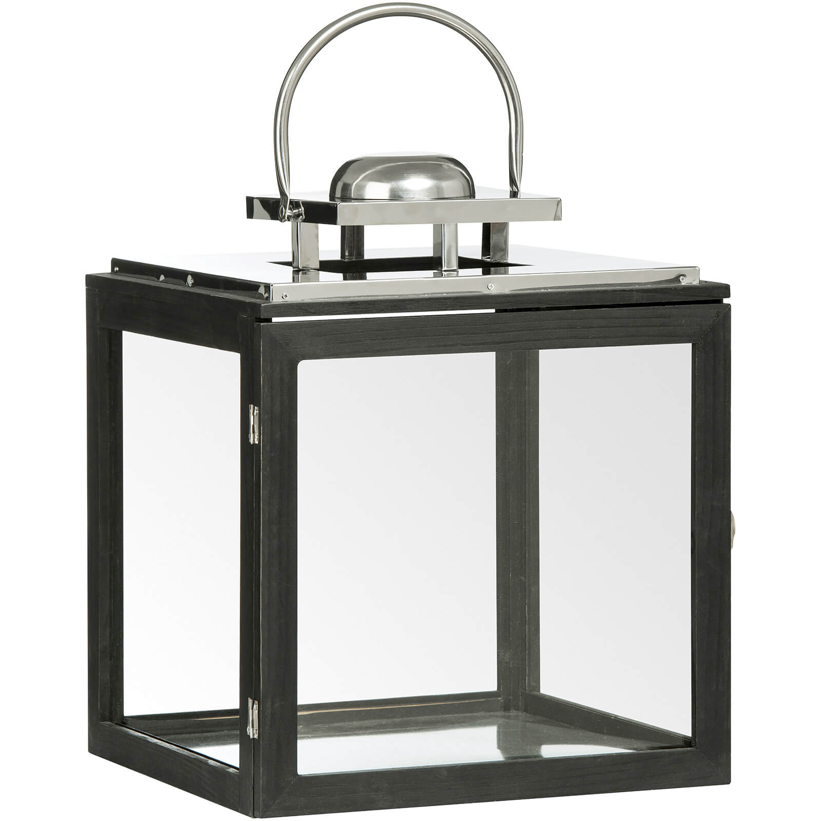 Fifty Five South Regents Square Large Park Lantern - Black