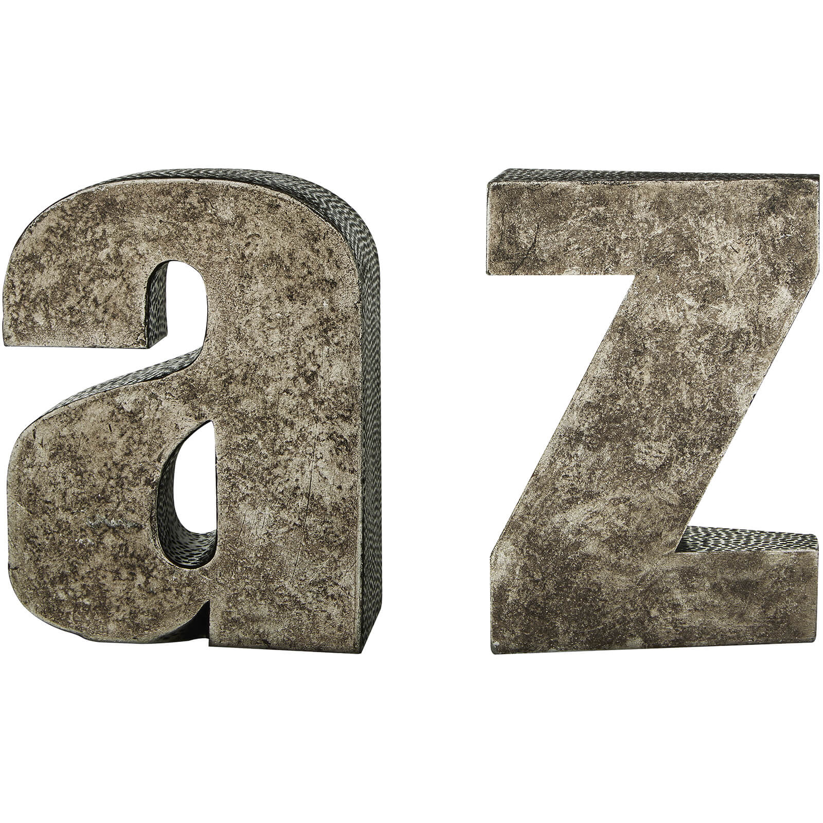 Fifty Five South A-Z Bookends - Antique Silver (Set of 2)
