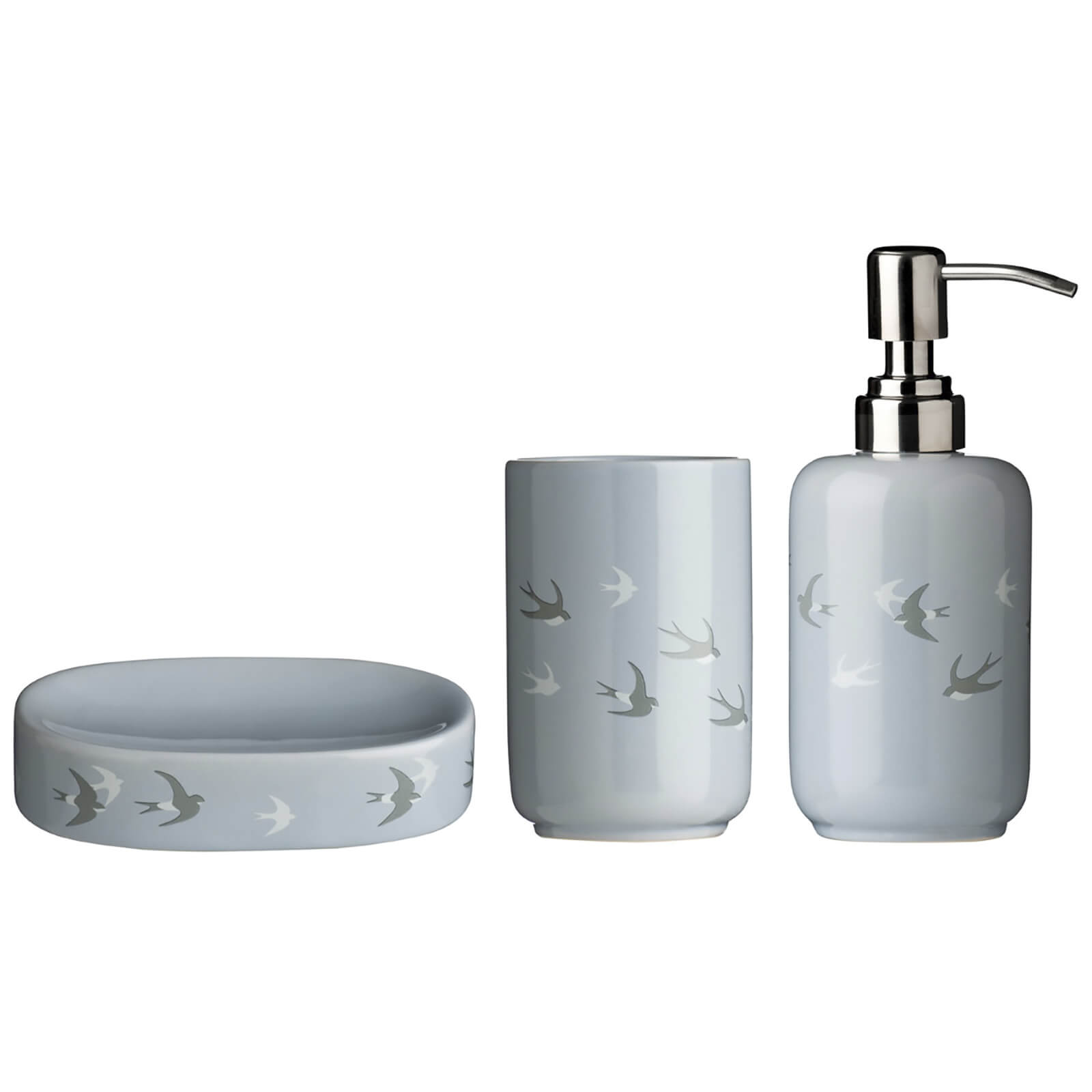 Fifty Five South Swift Bathroom Set - Dolomite Blue (Set of 3)