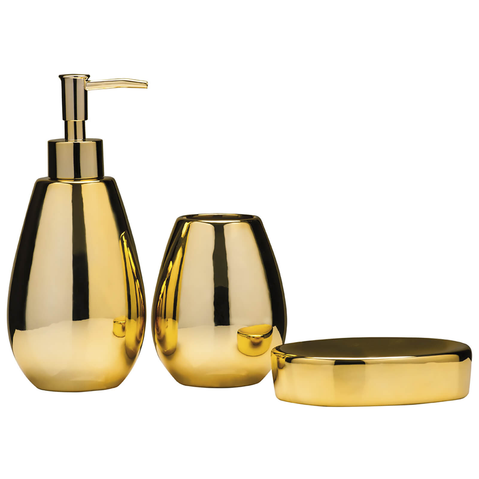 Fifty Five South Magpie Bathroom Set - Dolomite Gold (Set of 3)