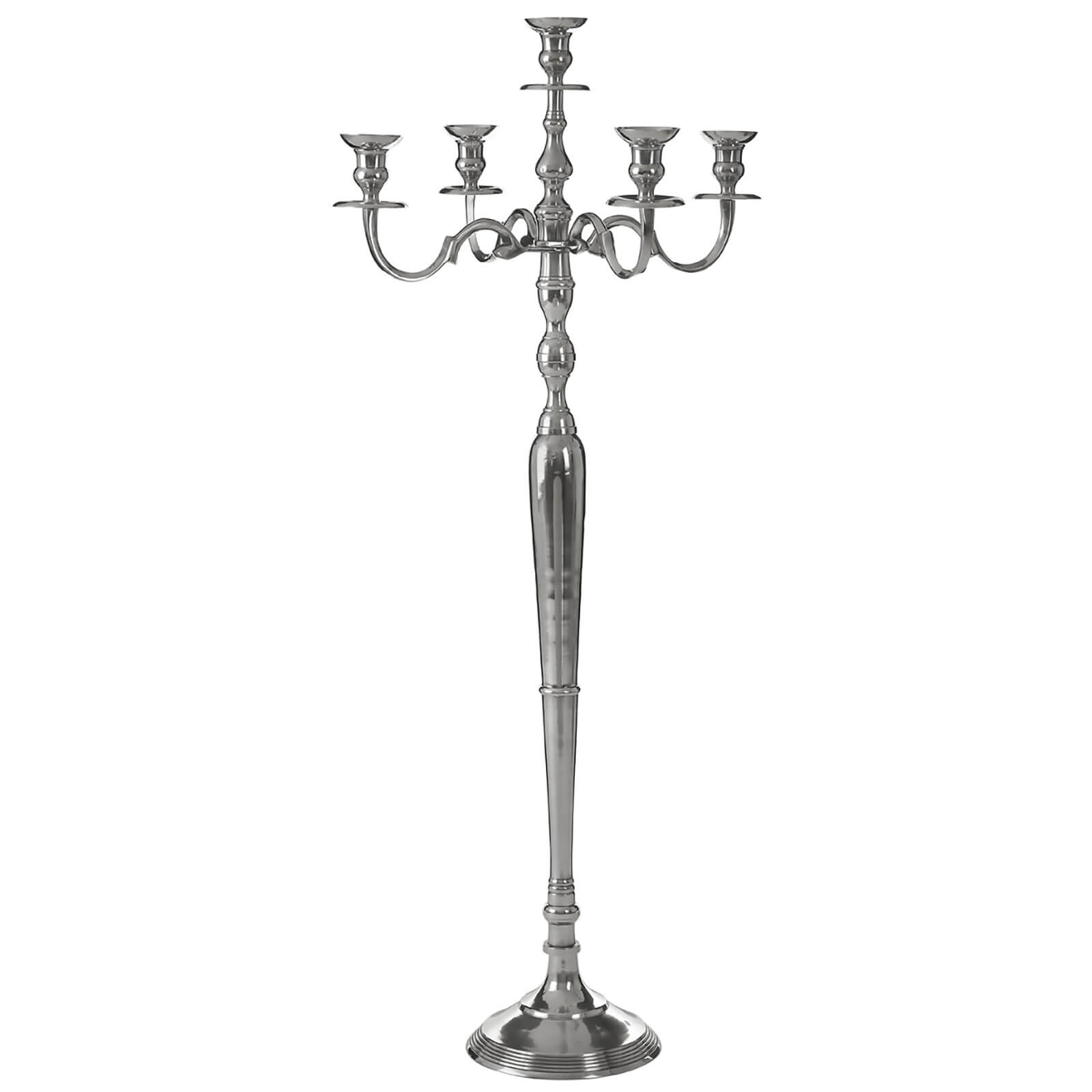 Fifty Five South 5 Arm Candelabra - Aluminium/Polished Finish