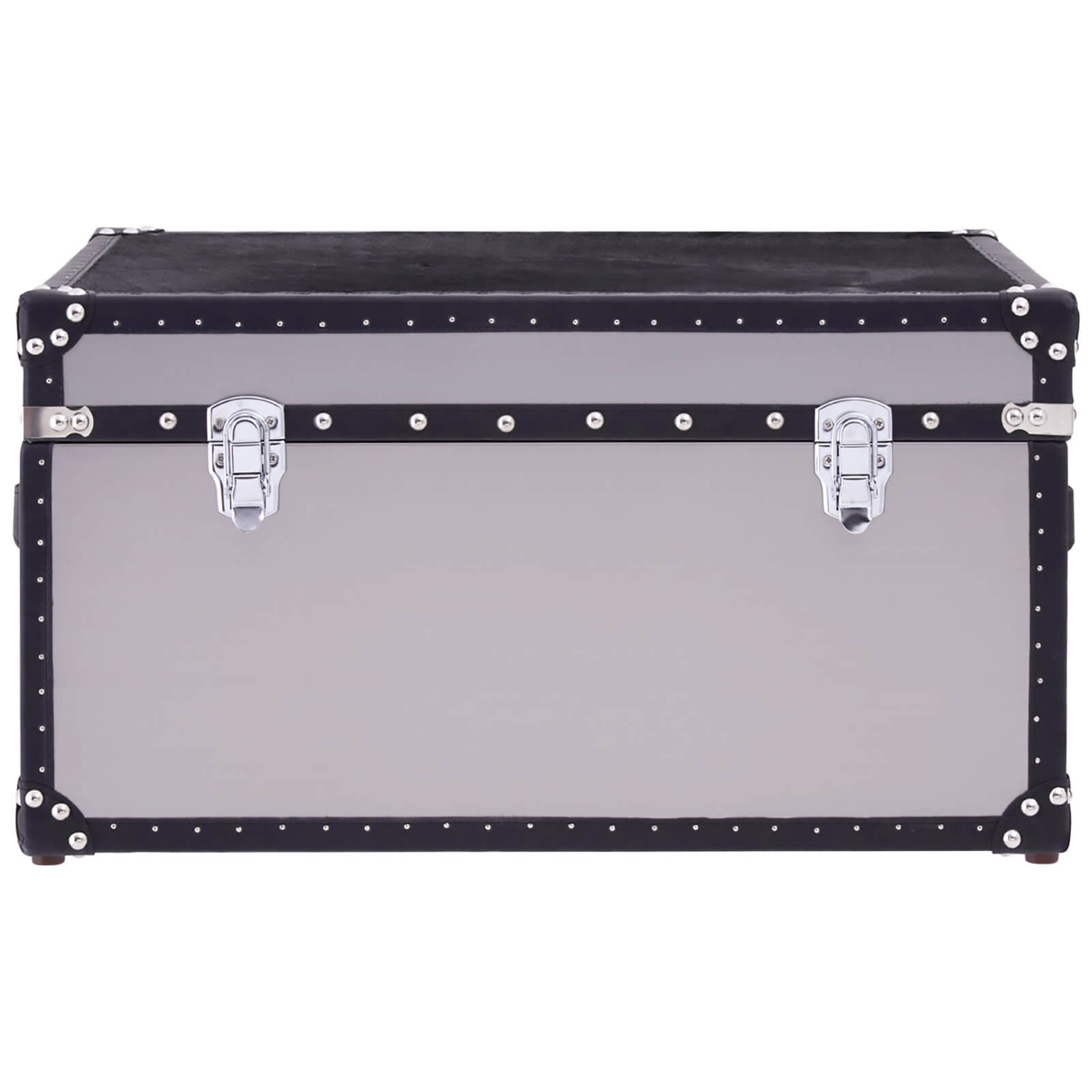 Fifty Five South Kensington Townhouse Cowhide Storage Trunk - Black/White