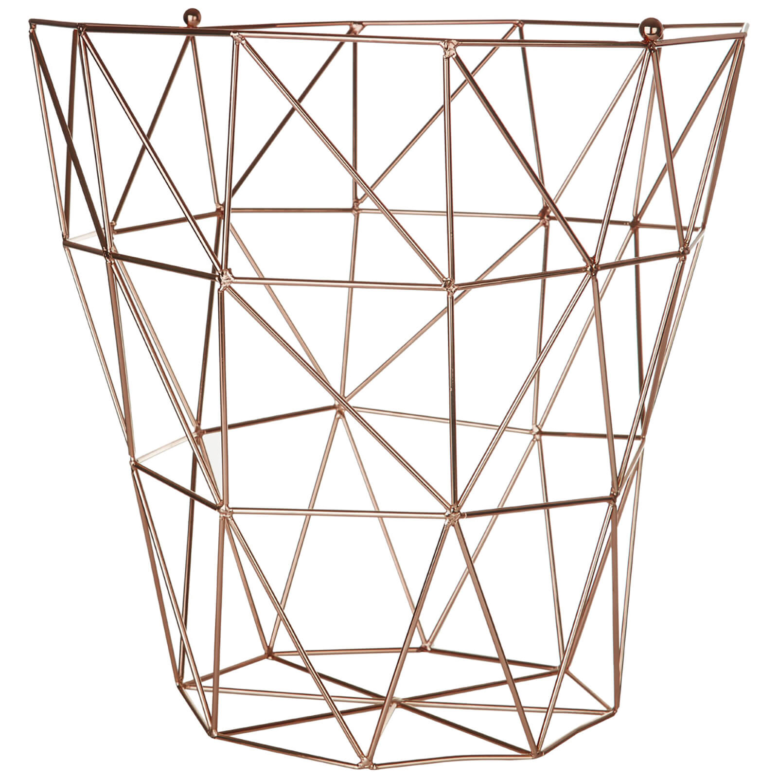 Fifty Five South Vertex Iron Wire Storage Basket - Copper Finish