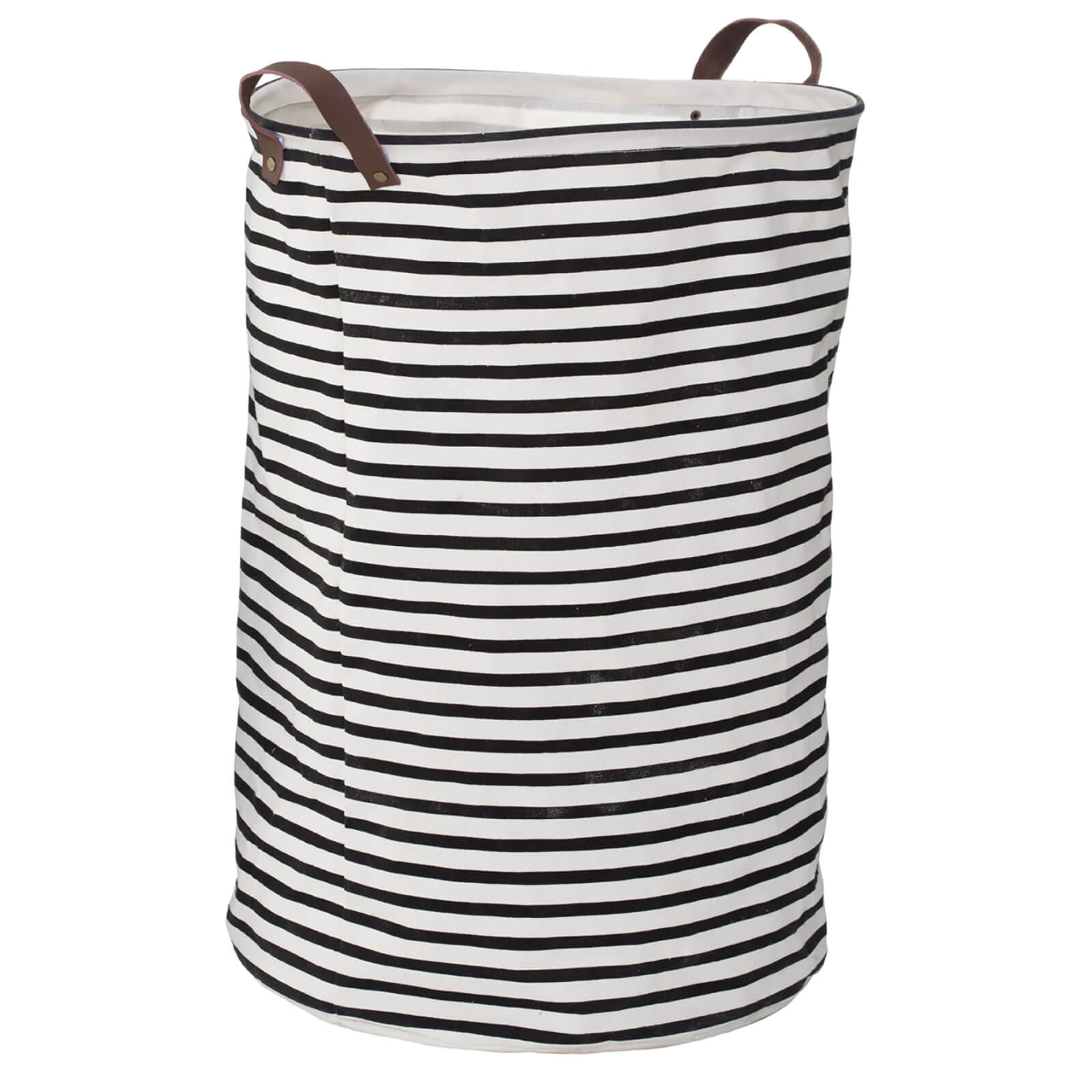 Fifty Five South Stripe Laundry Bag - Black/Natural