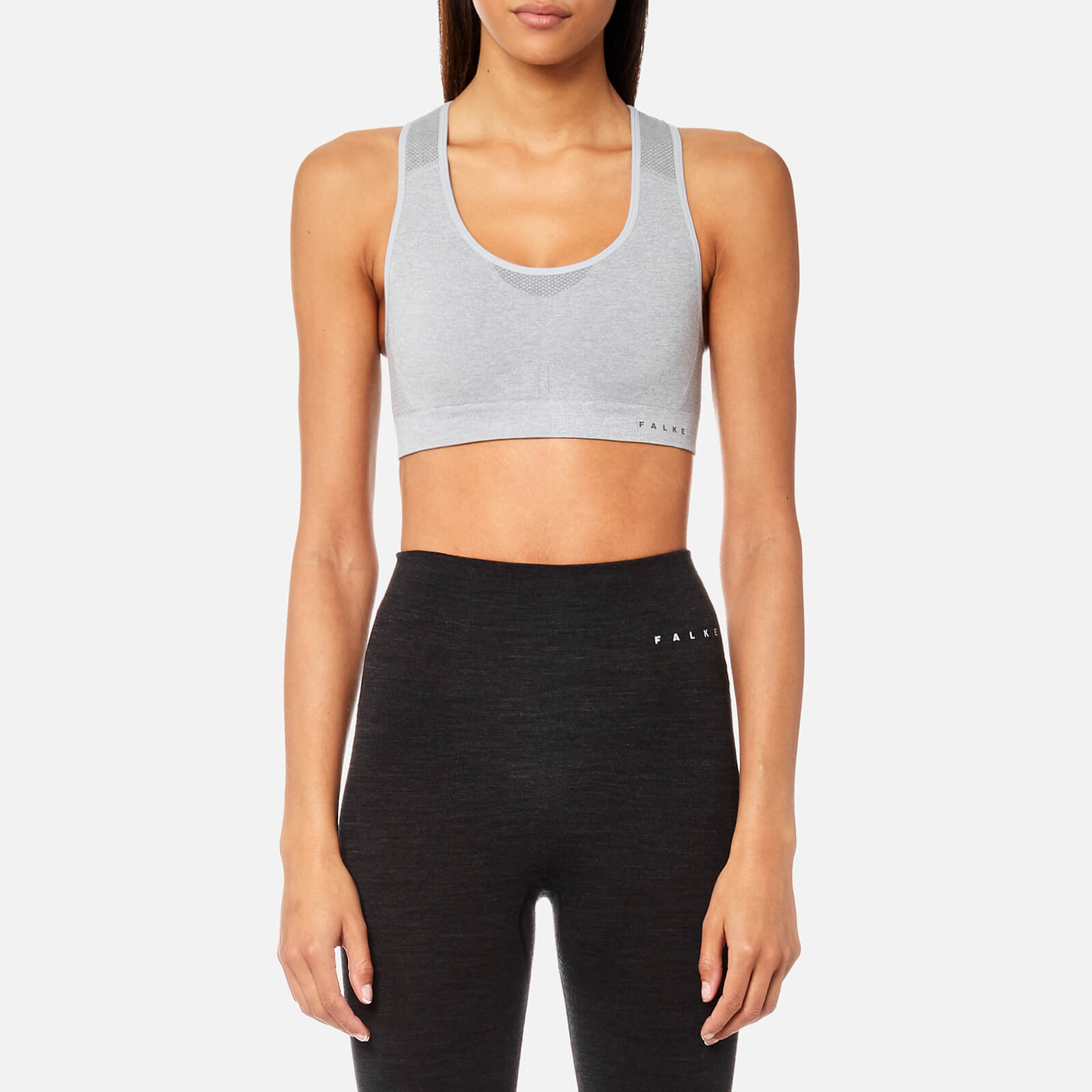 f73ab11c38d93 FALKE Ergonomic Sport System Women s Madison Low Support Sports Bra - Grey  Heather - Free UK Delivery over £50