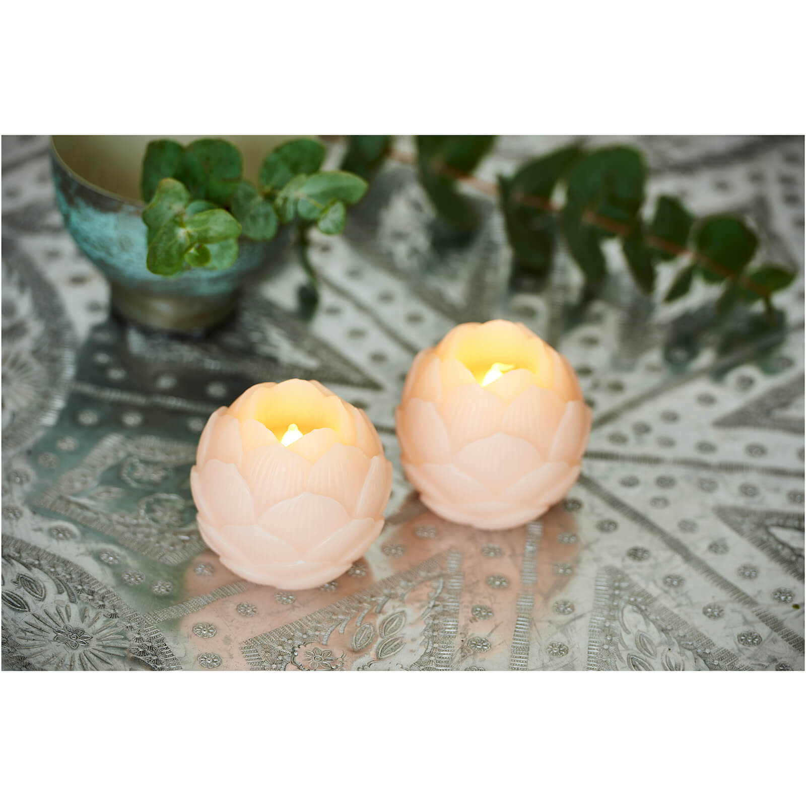 Sirius Helene LED Wax Candle Set with Timer - Blush