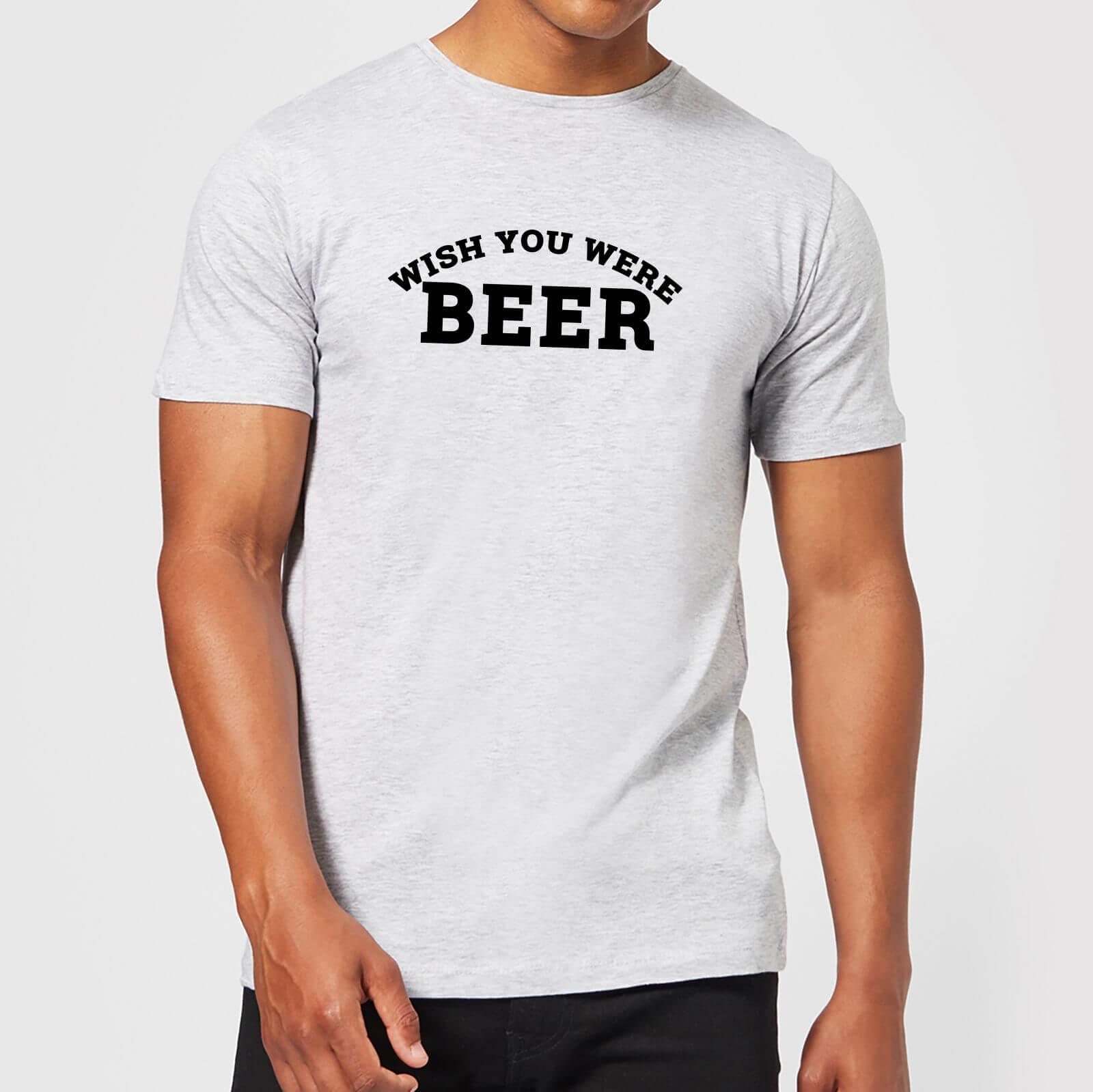 ceef0f5314ed Beershield Wish You Were Beer Men's T-Shirt | IWOOT