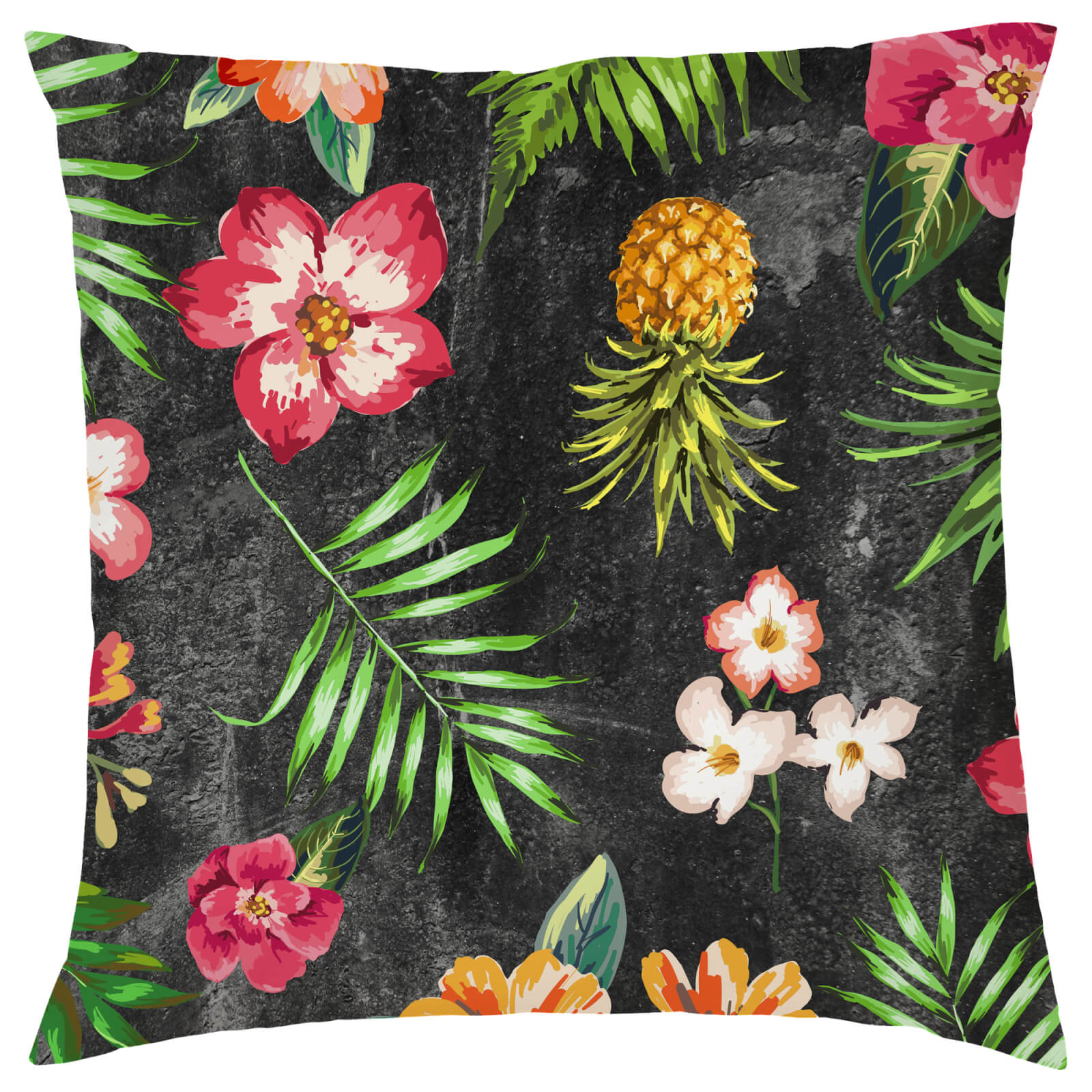 Tropical Pineapple Cushion - Black