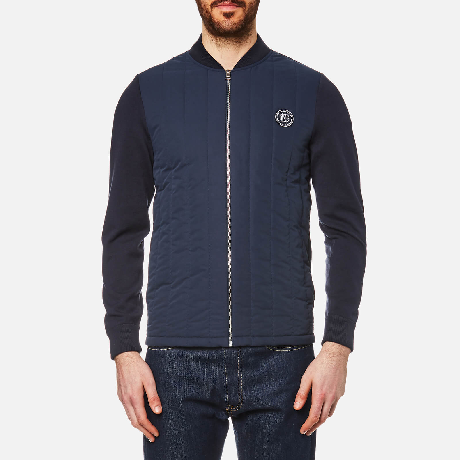 dcaefb91ebc GANT Men's Cotton Knit Jacket - Evening Blue Clothing   TheHut.com