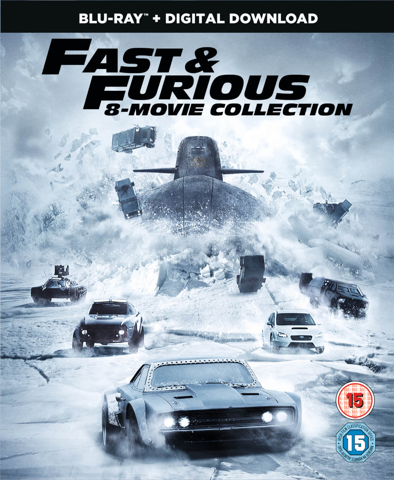 fast furious 8 film collection digital download blu. Black Bedroom Furniture Sets. Home Design Ideas