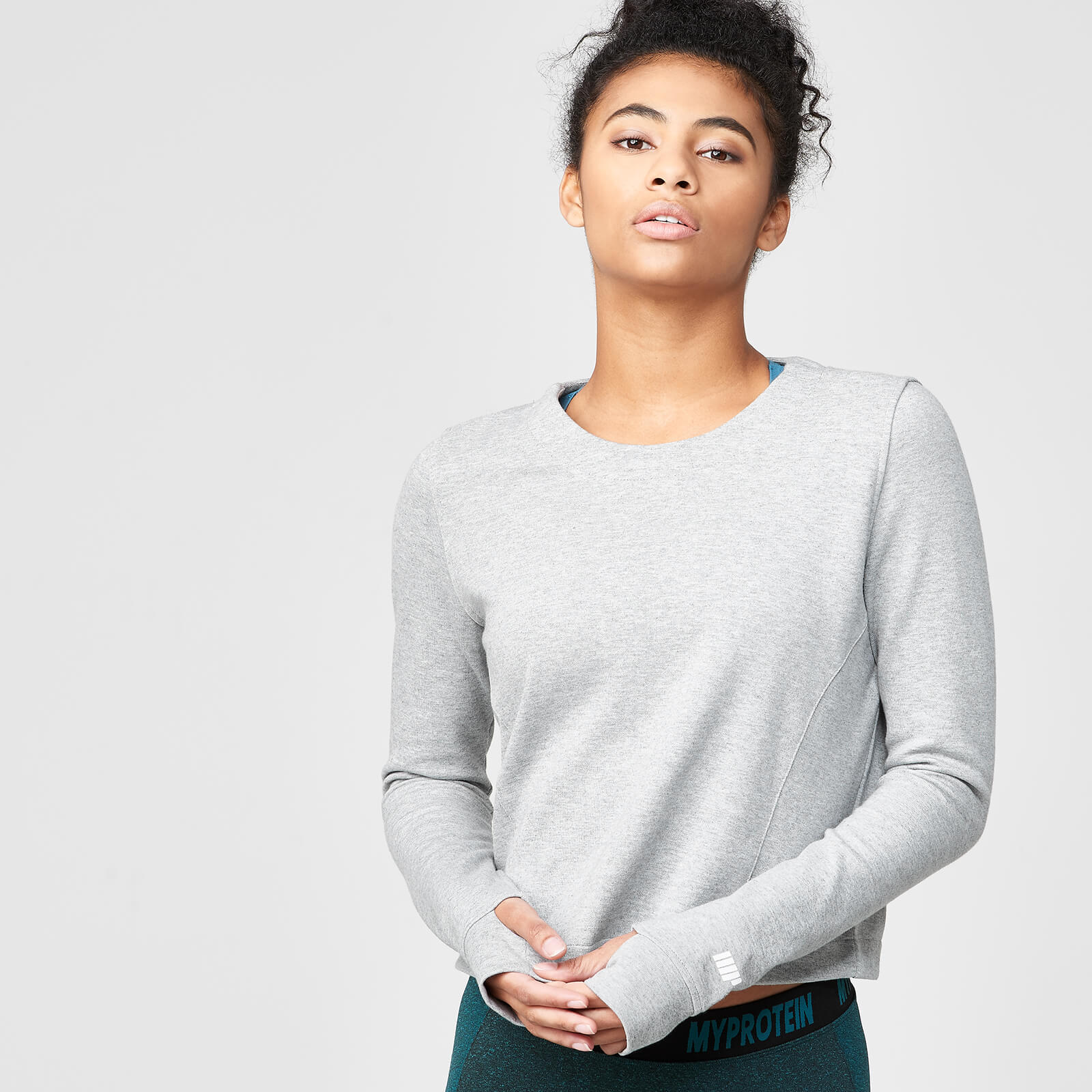 Pro Tech Crew Neck Top - Grey Marl - XL