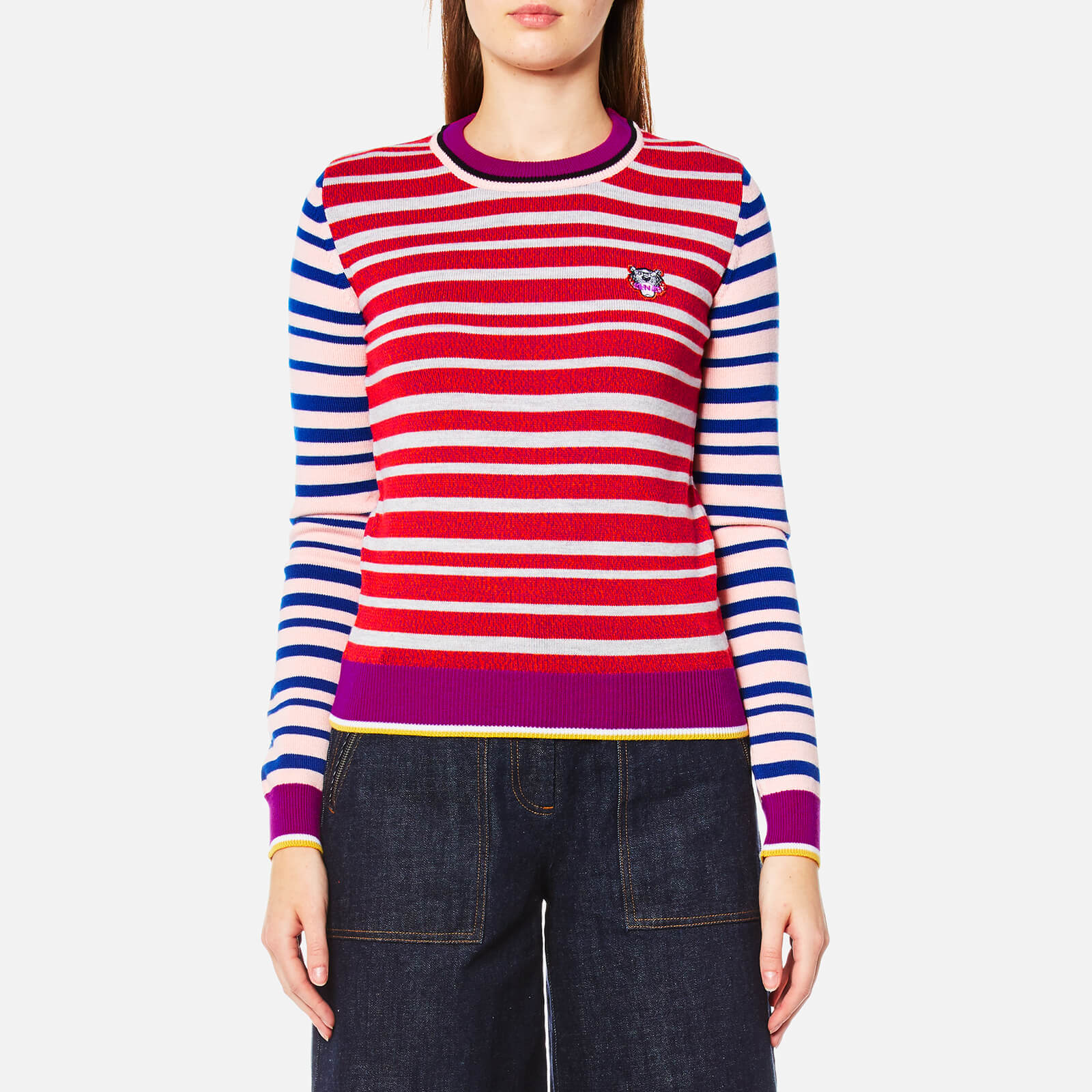 5c0f44c2 KENZO Women's Tiger Crest Wool Knitted Jumper - Multi - Free UK Delivery  over £50