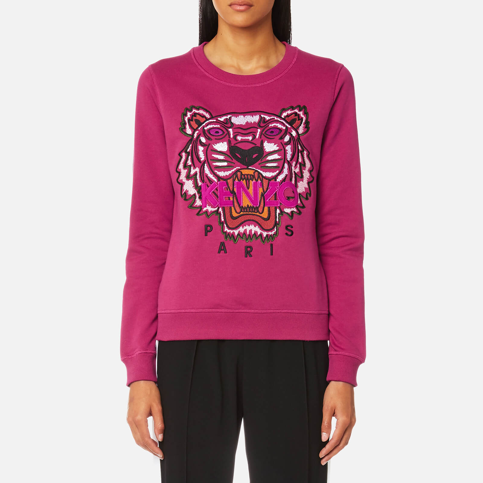 a7aa8d182 KENZO Women's Classic Tiger Sweatshirt - Deep Fuchsia - Free UK Delivery  over £50