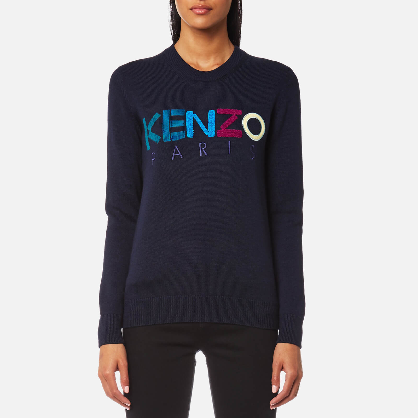 8f9fea55fbb KENZO Women's Kenzo Paris Wool Knitted Jumper - Blue - Free UK Delivery  over £50