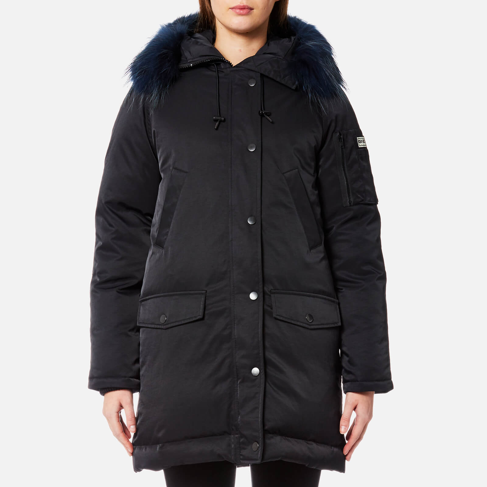 1d823dbd KENZO Women's Technical Outerwear Nylon Hooded Parka Coat - Black - Free UK  Delivery over £50