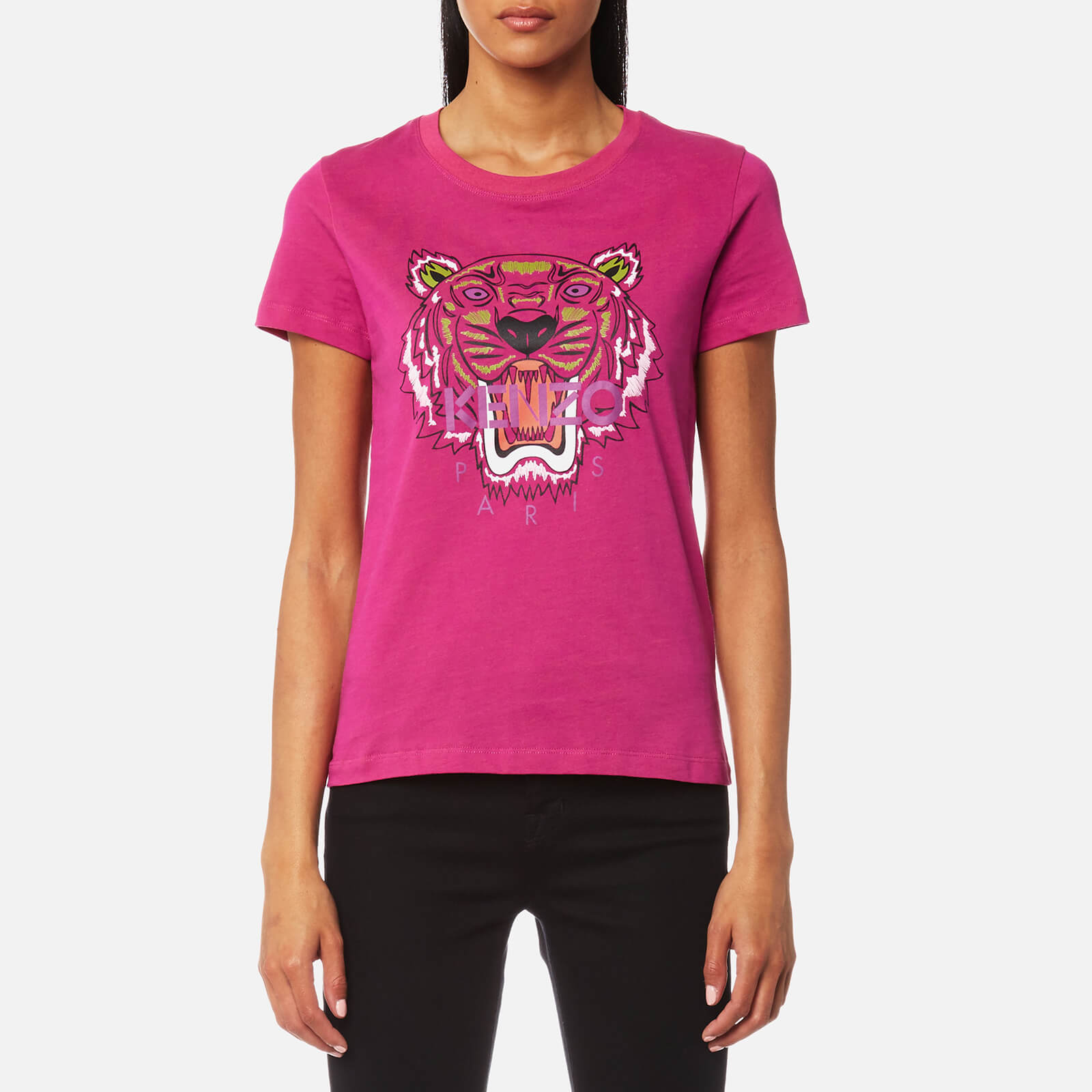 575377694 KENZO Women's Tiger Classic T-Shirt - Deep Fuchsia - Free UK Delivery over £ 50