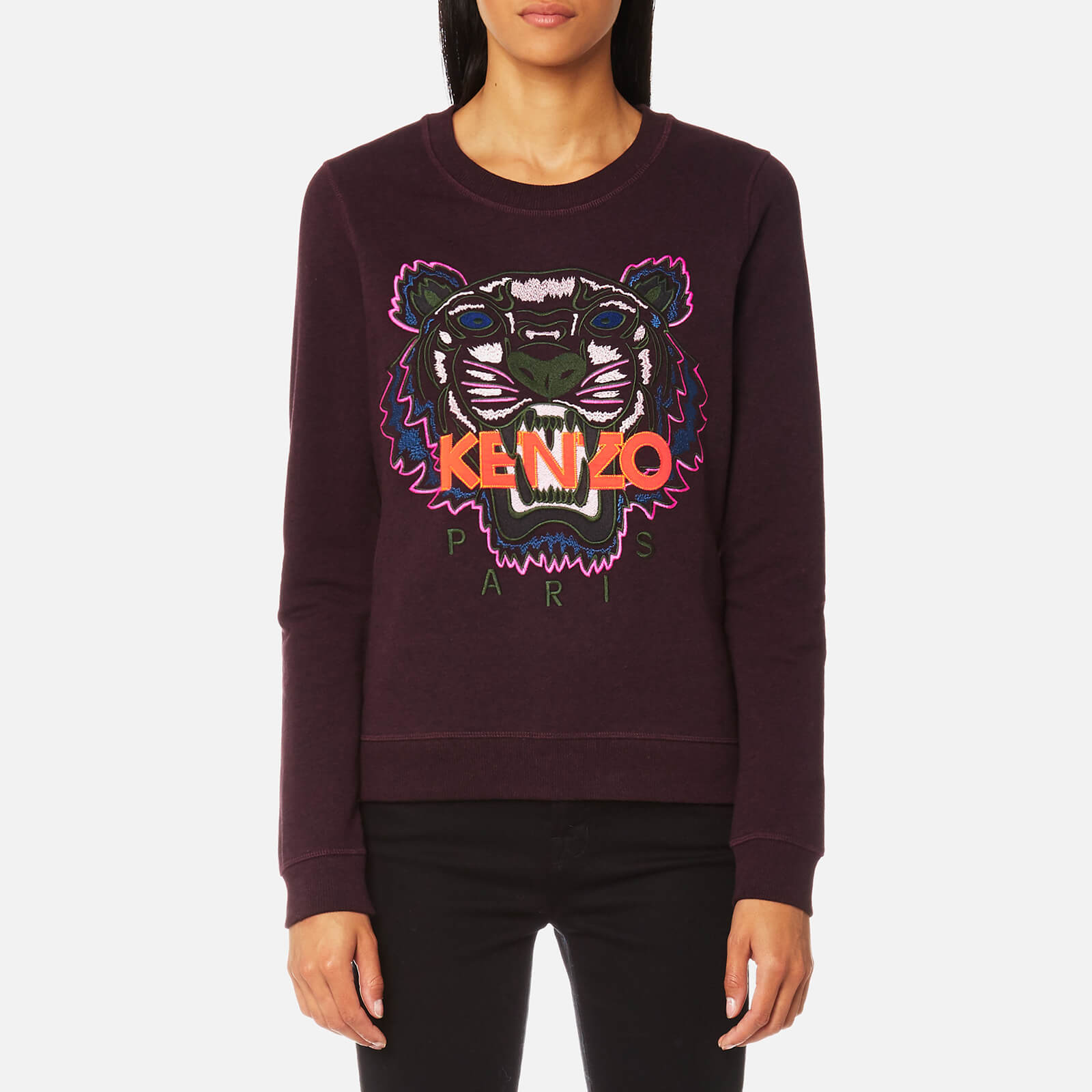 132d90d0 KENZO Women's Classic Tiger Sweatshirt - Prune - Free UK Delivery over £50