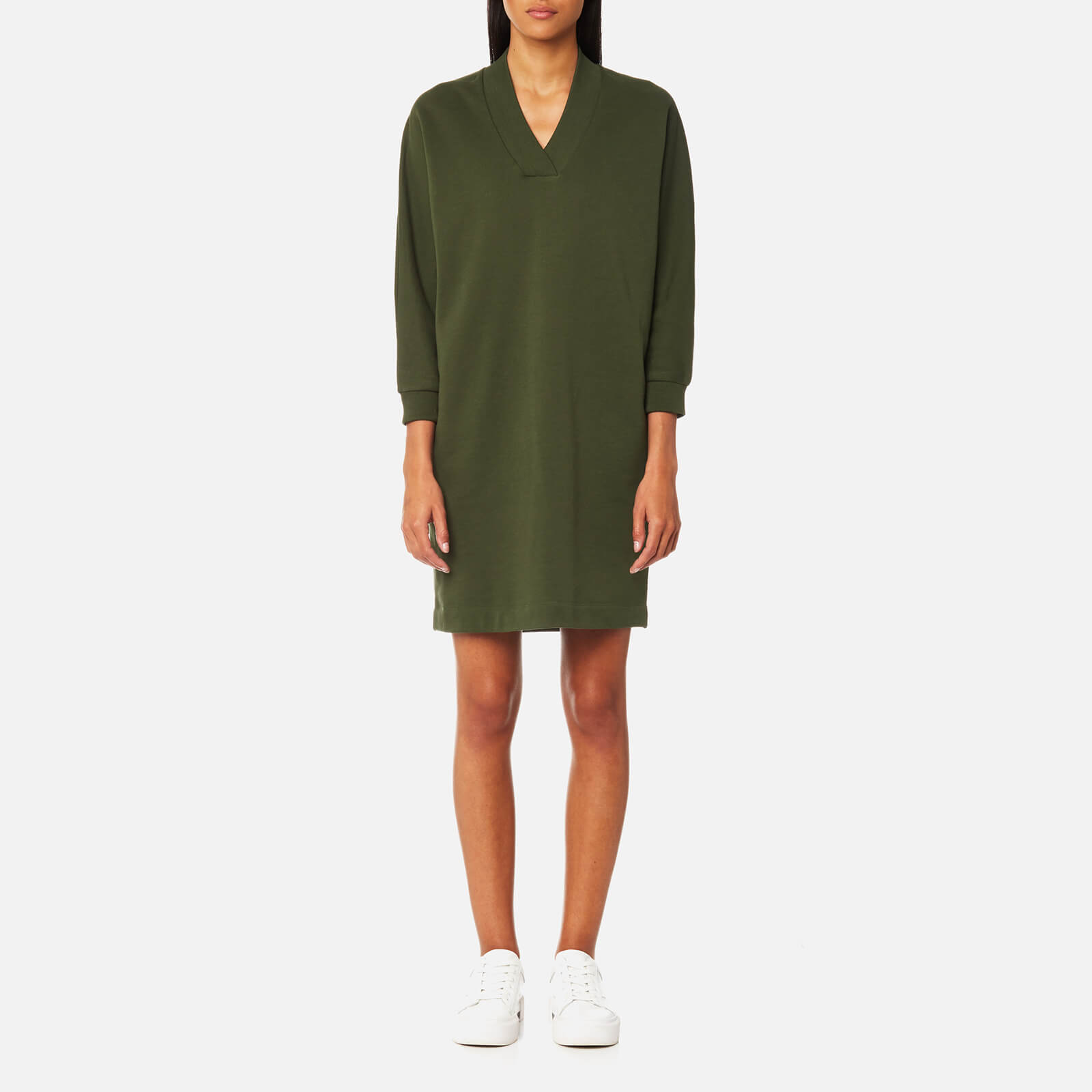 f7f62203 KENZO Women's Robe Sweatshirt Dress - Dark Khaki - Free UK Delivery over £50