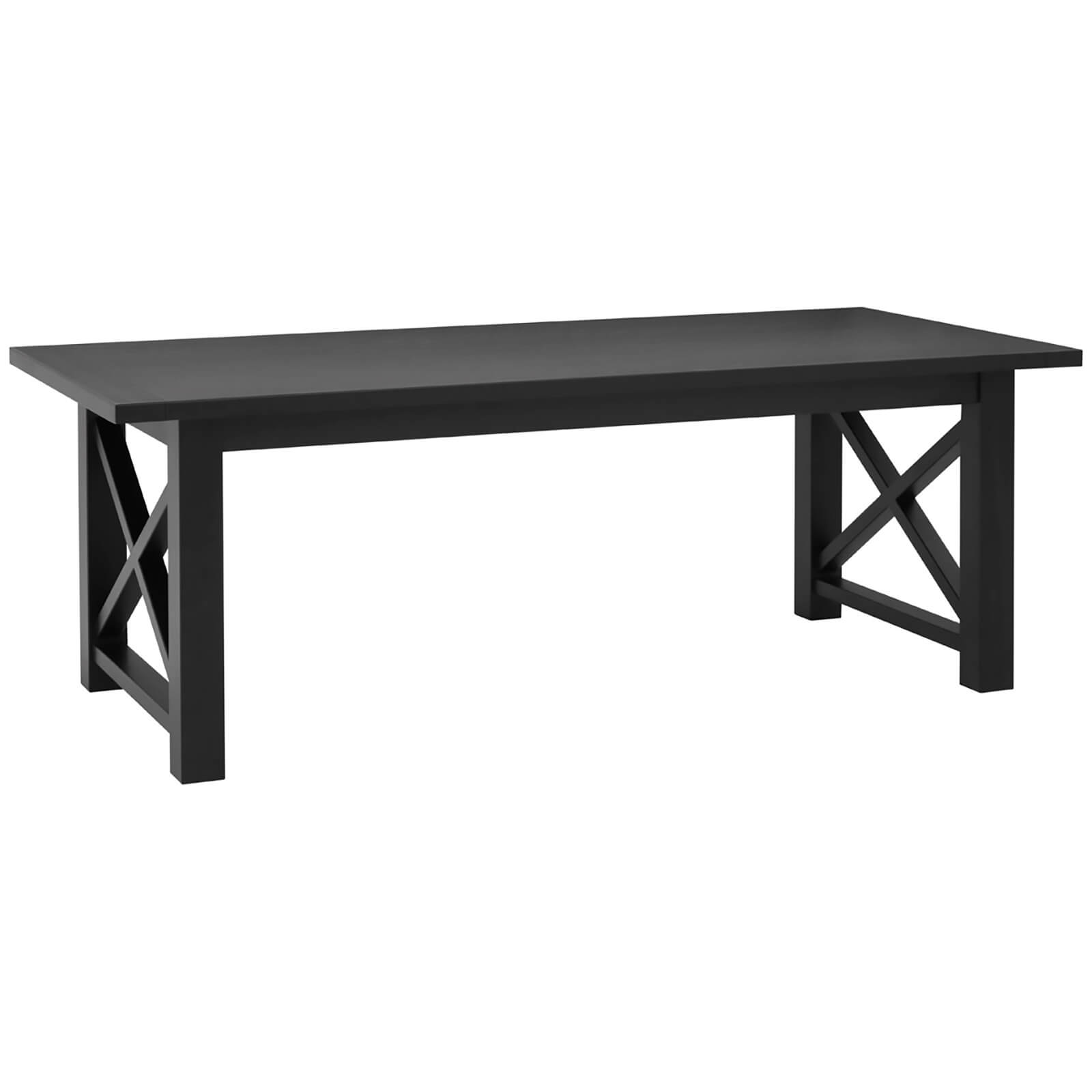 Lyon Dining Table - Black/Oak Wood