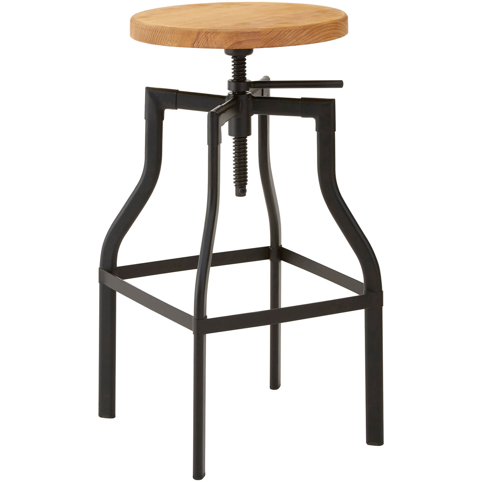 New Foundry Bar Stool - Ash/Metal