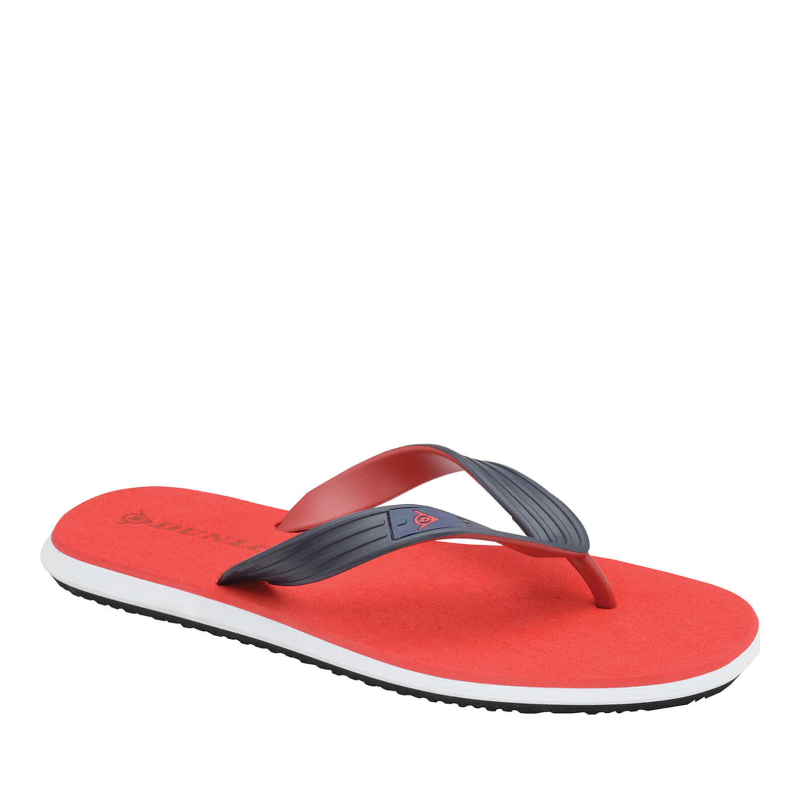 5ca51ea09e61 Dunlop Men s Toe Post Flip Flops - Red Mens Footwear