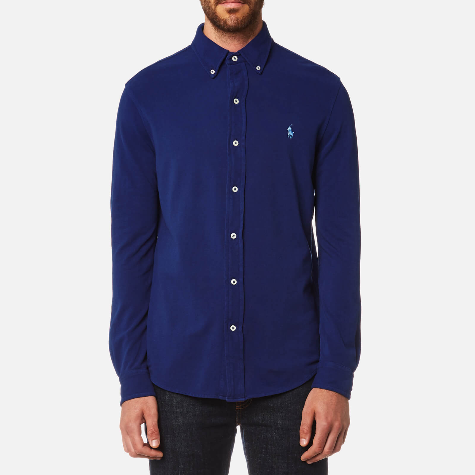 43a11b1b Polo Ralph Lauren Men's Featherweight Mesh Shirt - Navy - Free UK Delivery  over £50