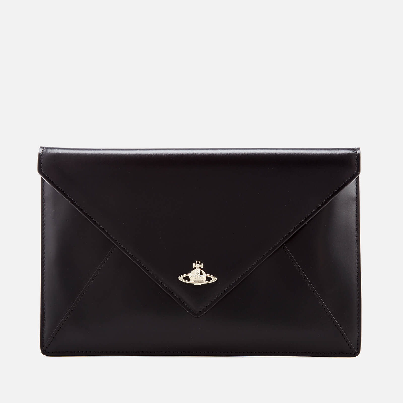 a25556ce84ae Vivienne Westwood Women s Private Envelope Clutch Bag - Black Black - Free  UK Delivery over £50