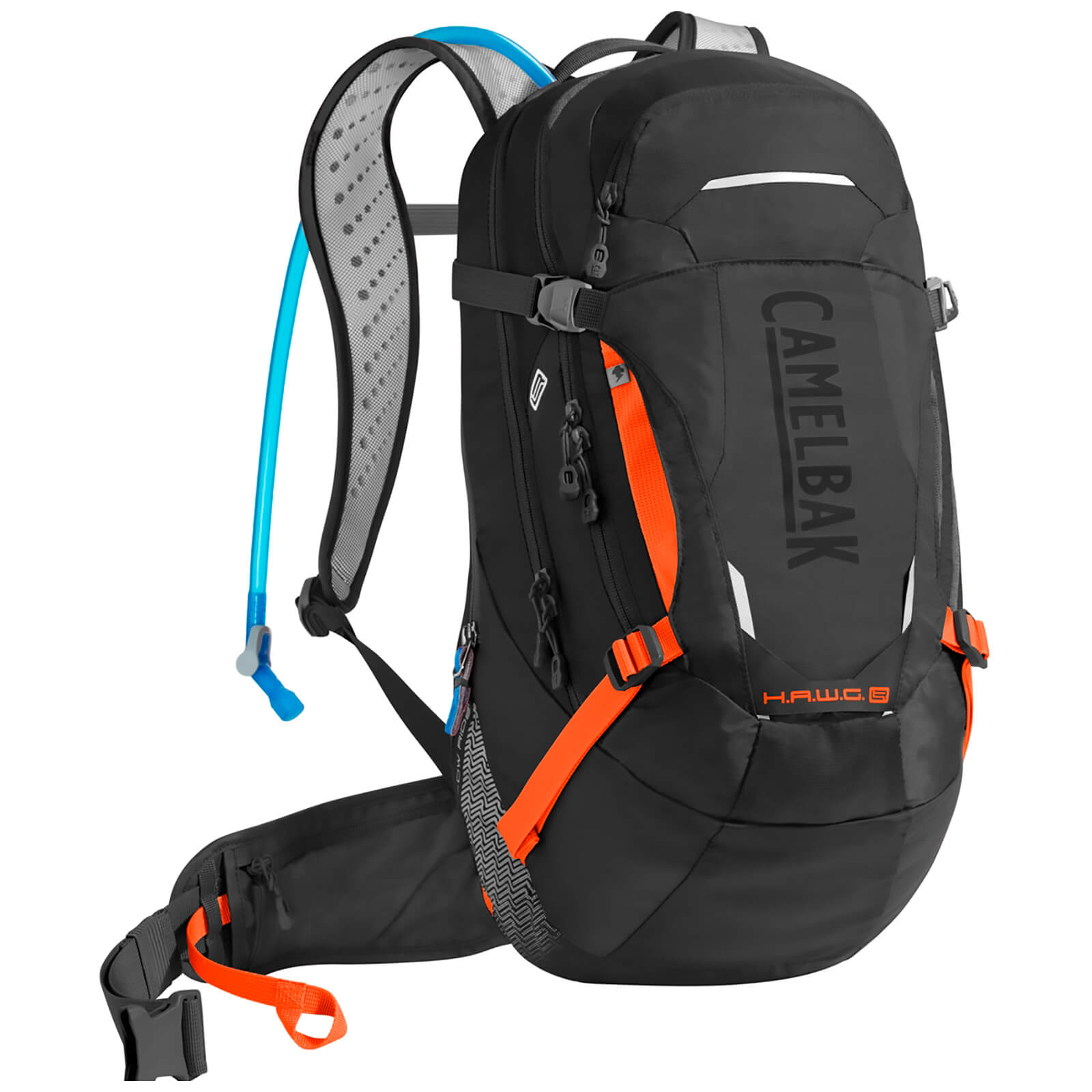 Camelbak Hawg Low Rider Hydration Backpack 20 Litres - Black/Laser Orange