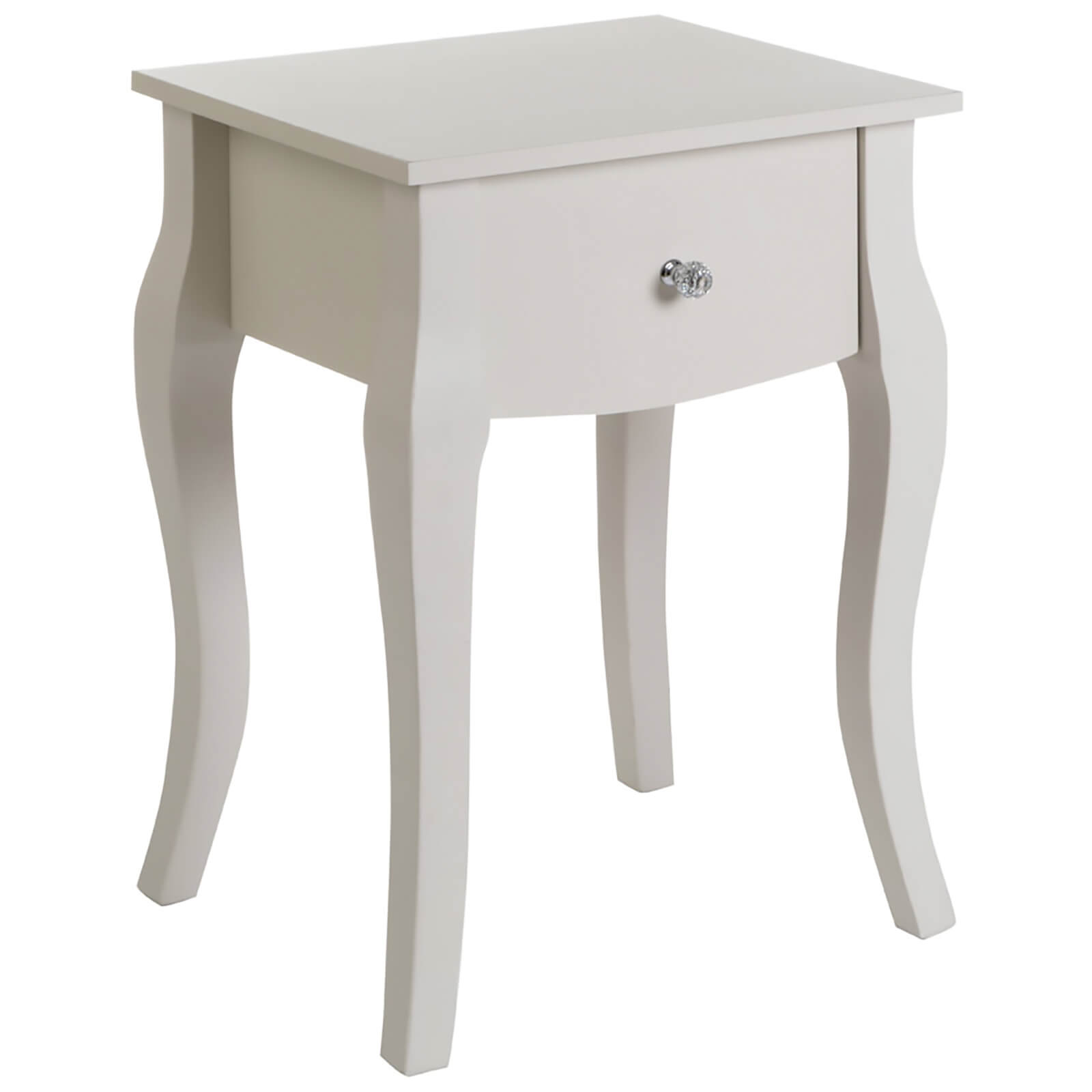 Fifty Five South Emily Kids Side Table - Ivory/Crystal Handle