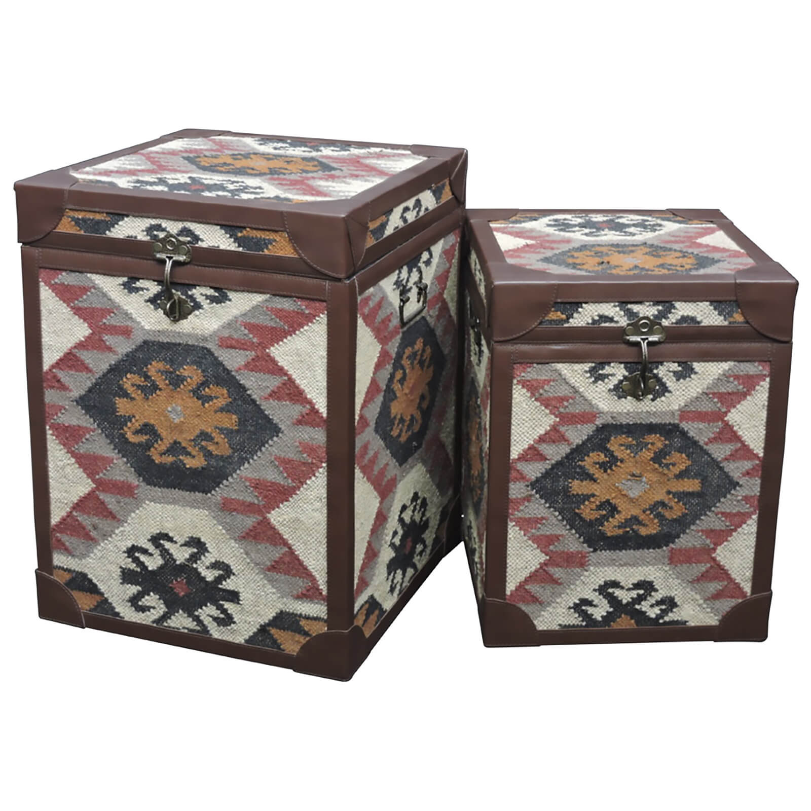 Fifty Five South Multi Print Side Table Trunks (Set of 2)