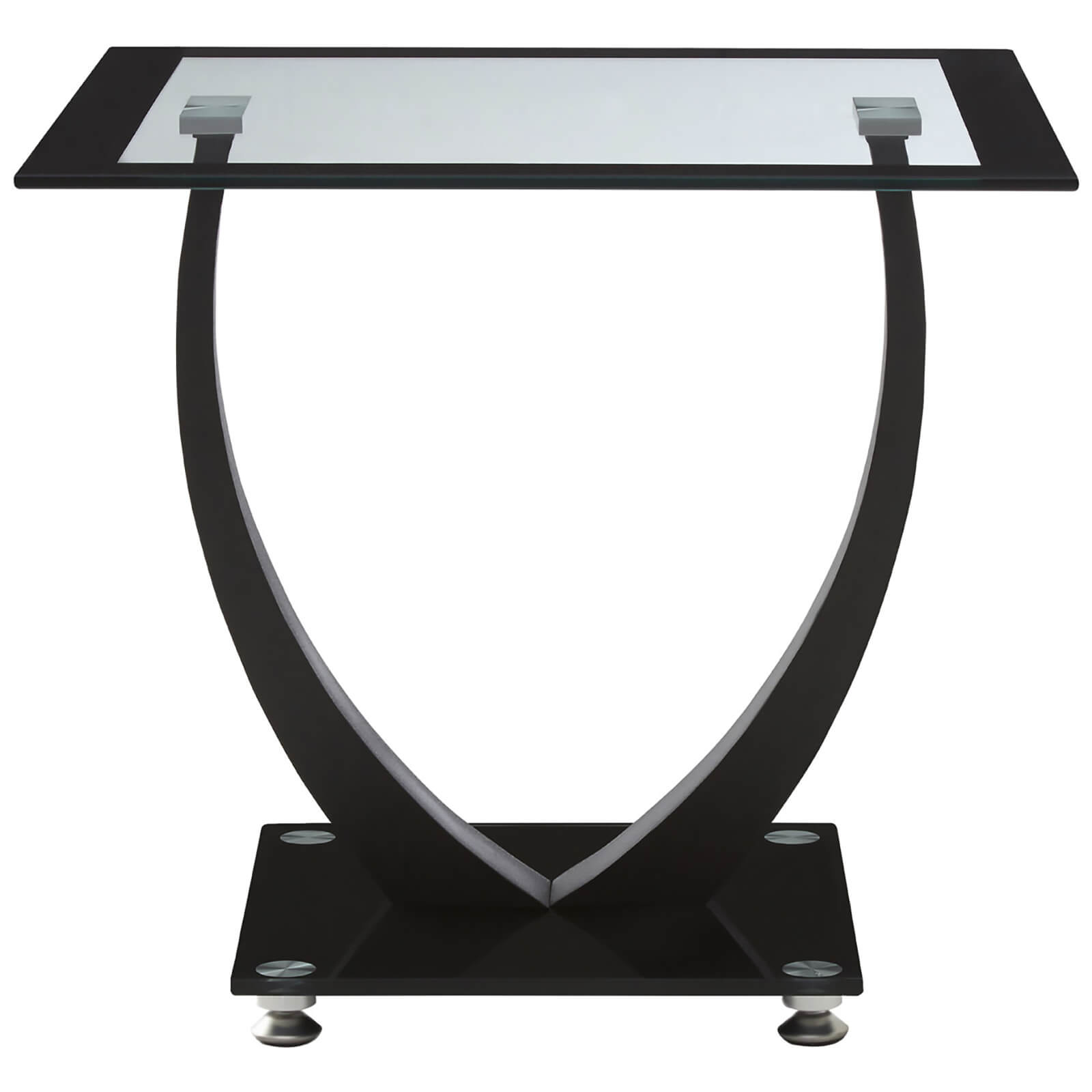 Fifty Five South Tempered Glass Side Table - Black