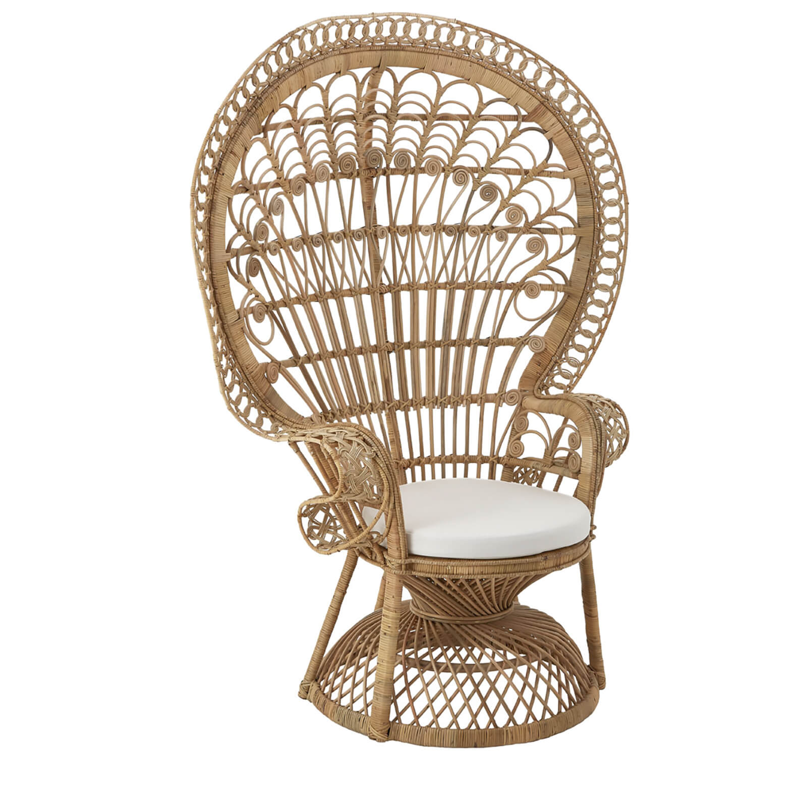 Fifty Five South Woodstock Peacock Rattan Chair - Natural