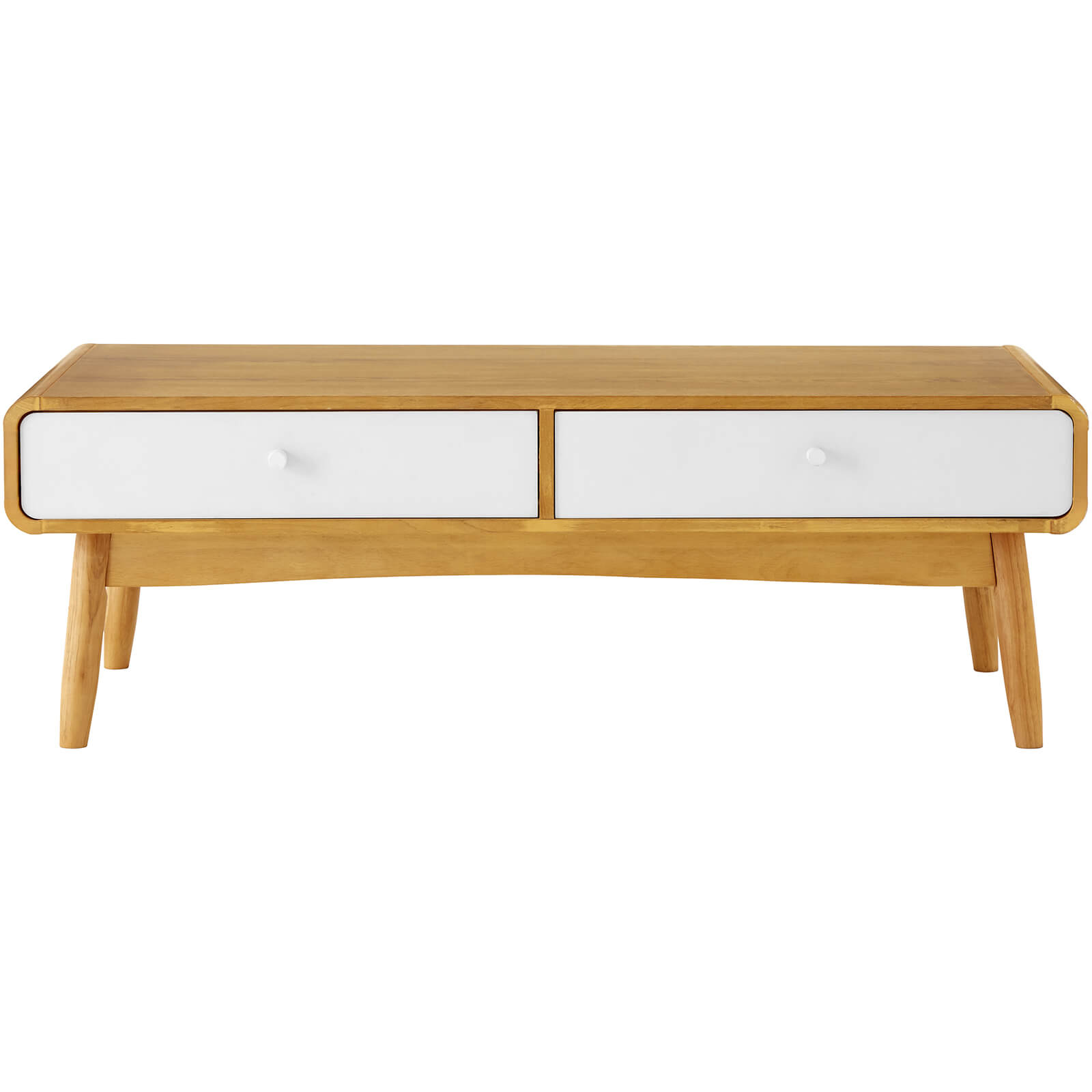 Fifty Five South Malmo Two Drawer Coffee Table - White Oak Veneer