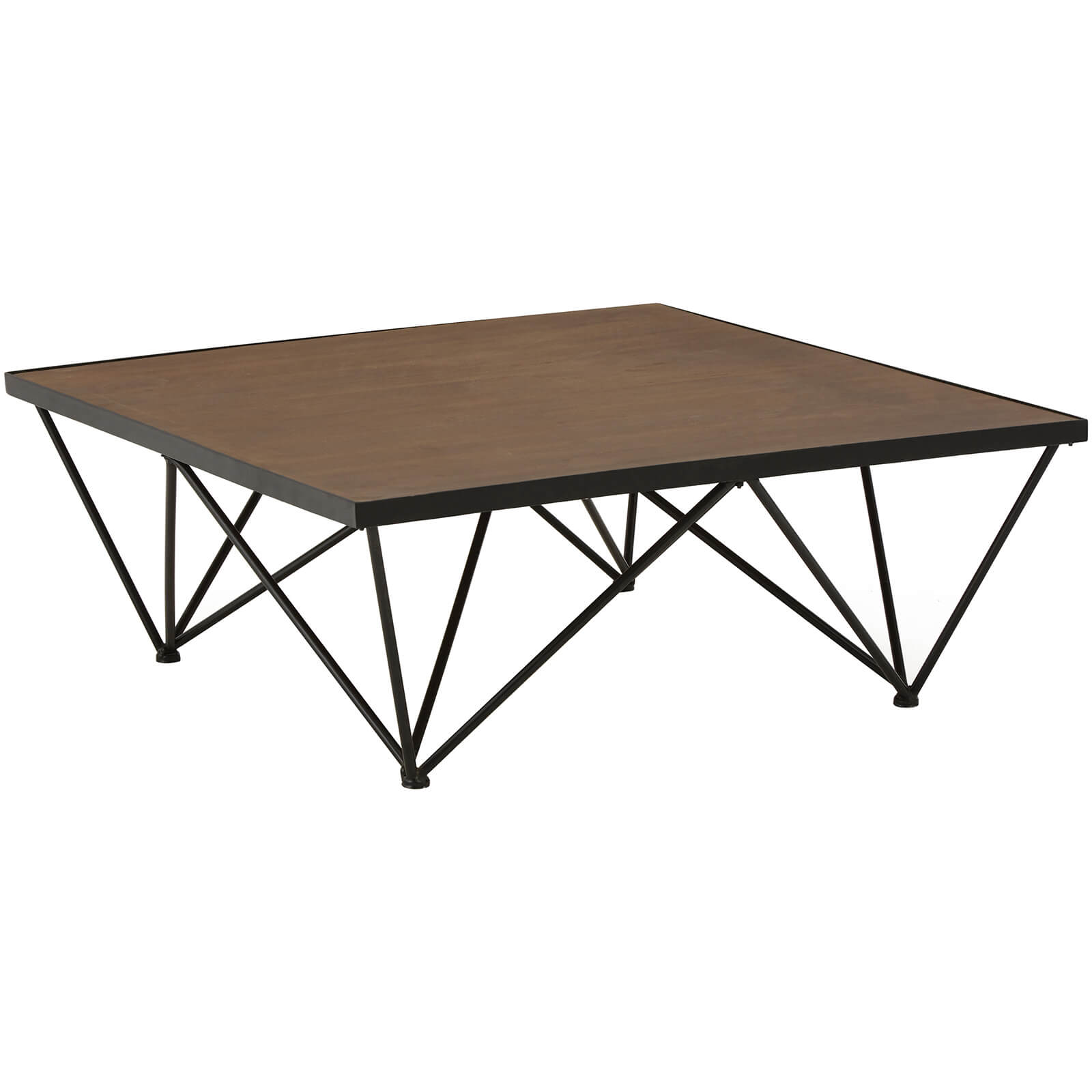 Fifty Five South New Foundry Square Coffee Table - Fir Wood/Metal
