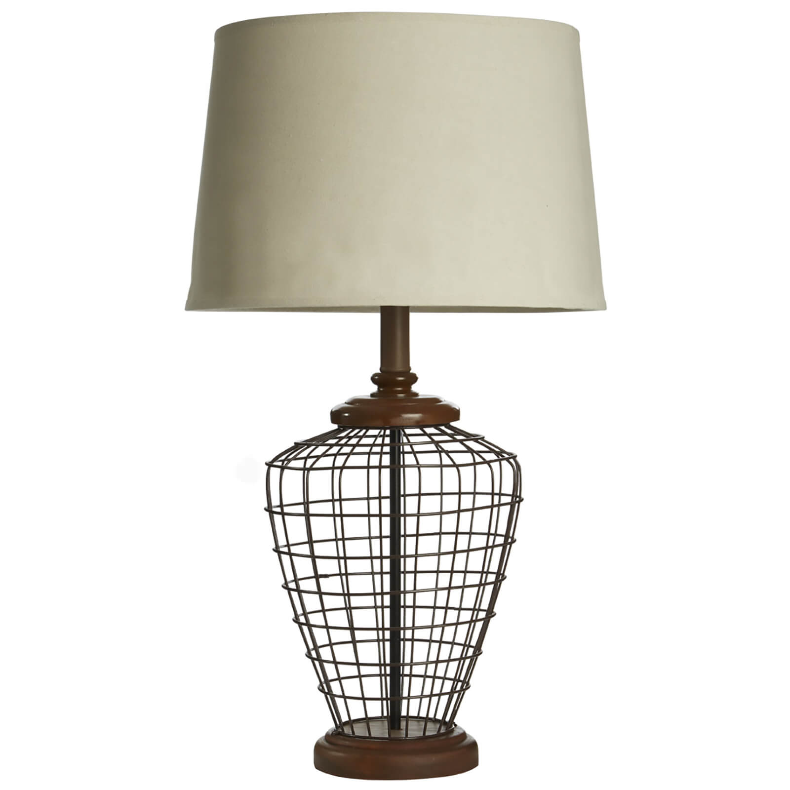 Fifty Five South Maine Table Lamp - Natural Linen Shade