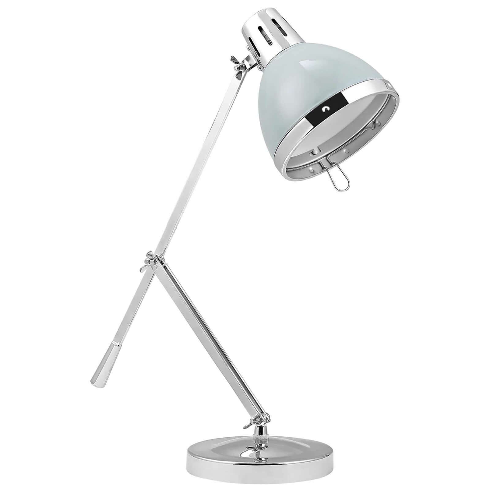 Fifty Five South Vermont Adjustable Table Lamp - Shutter Blue/Chrome