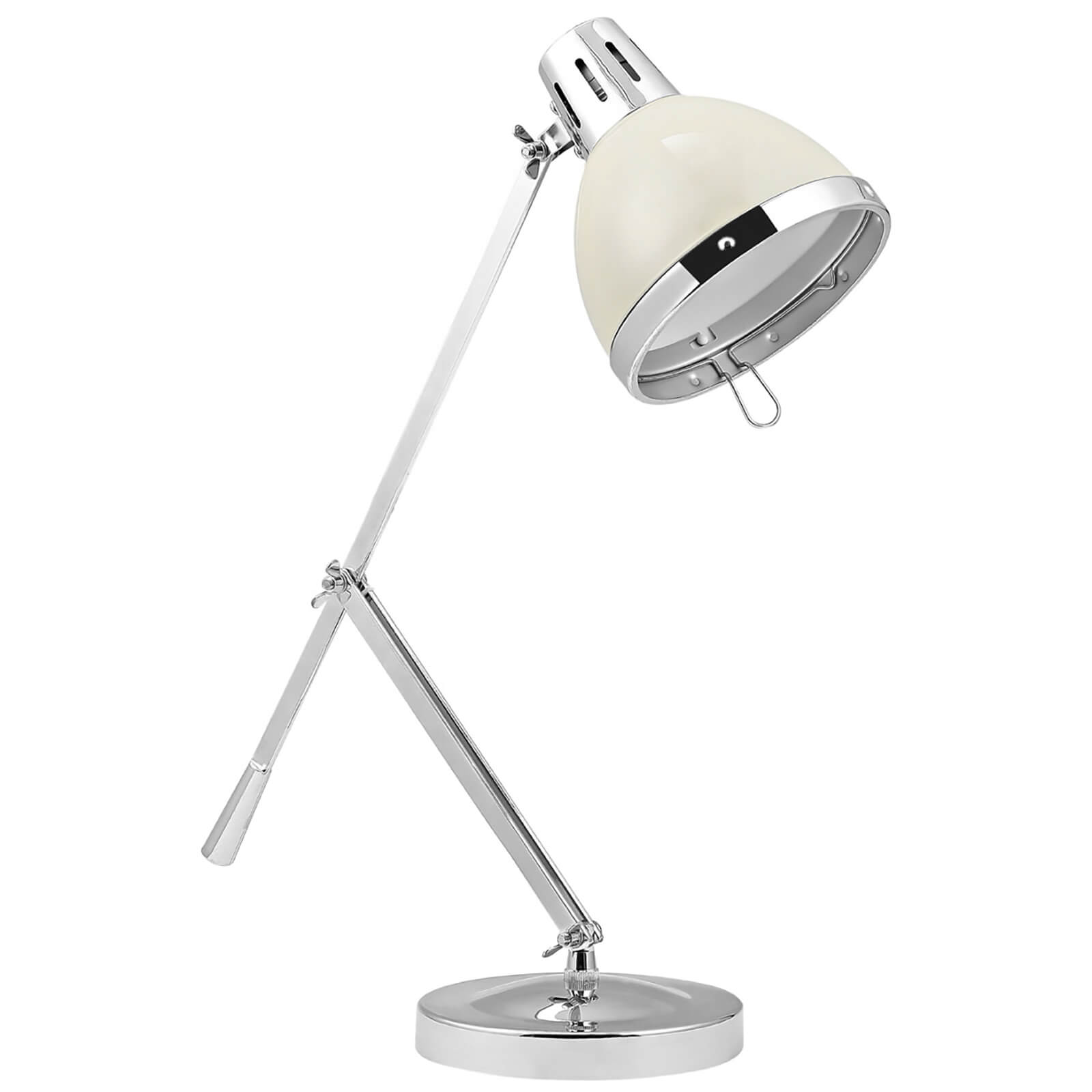 Fifty Five South Vermont Adjustable Table Lamp - Clay/Chrome