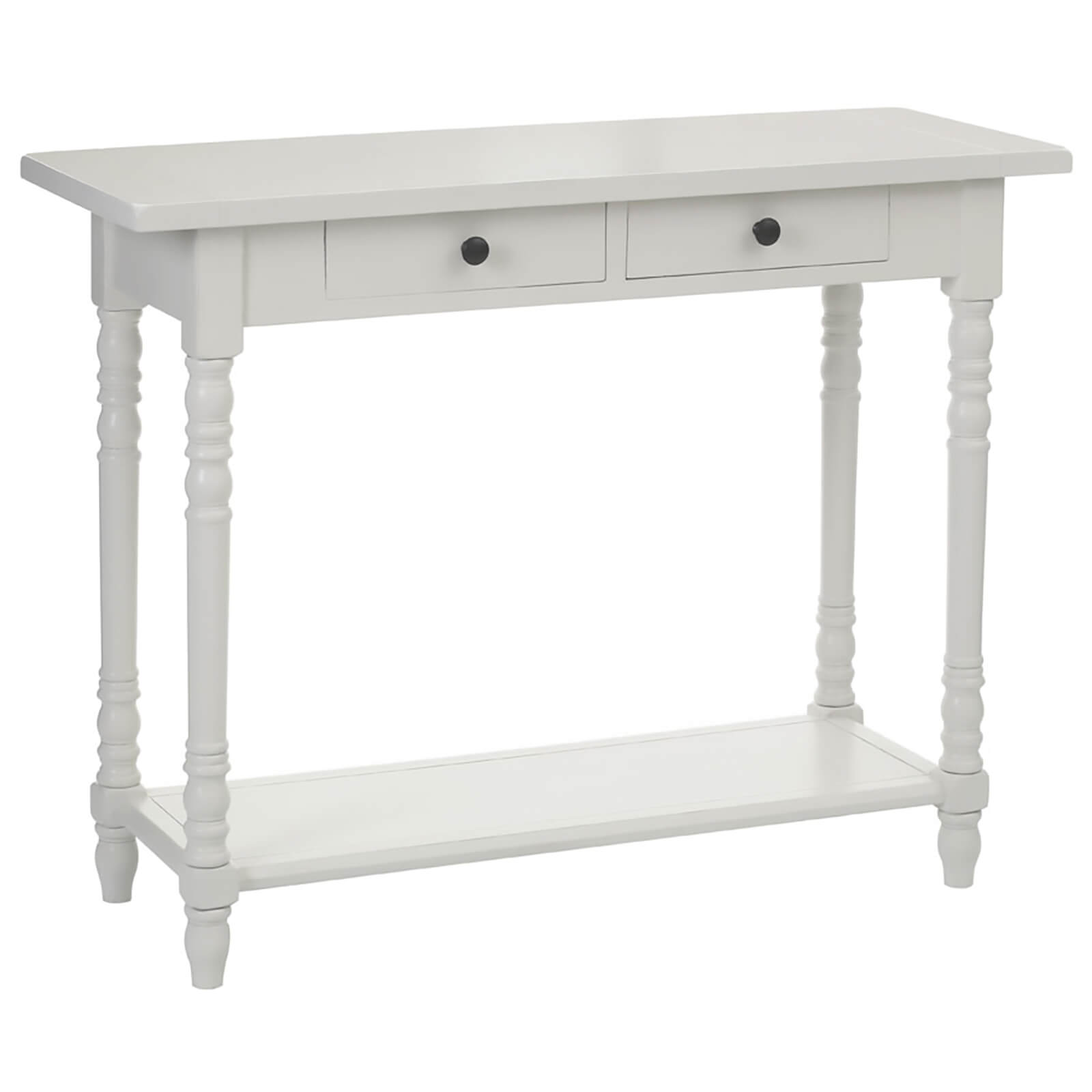 Fifty Five South Heritage Two Drawer Console Table - Antique White