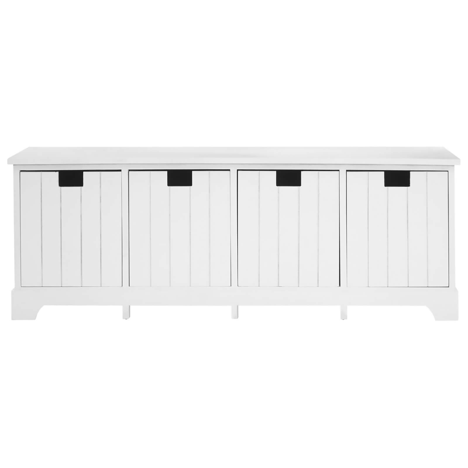 Fifty Five South New England Drawer Bench - White