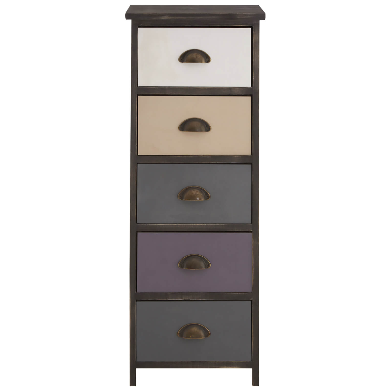 Fifty Five South Urban Loft Five Drawer Chest - Brown Wash