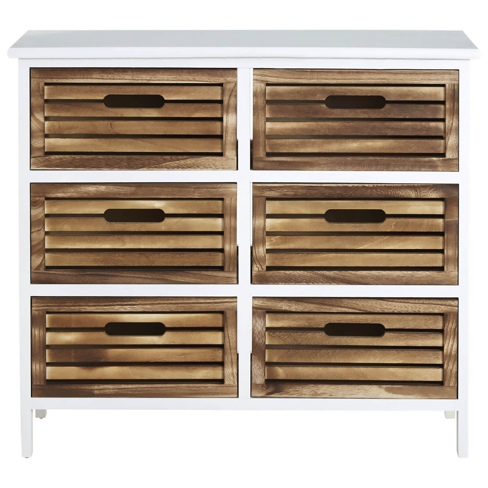 Fifty Five South Portsmouth Six Drawer Unit - White